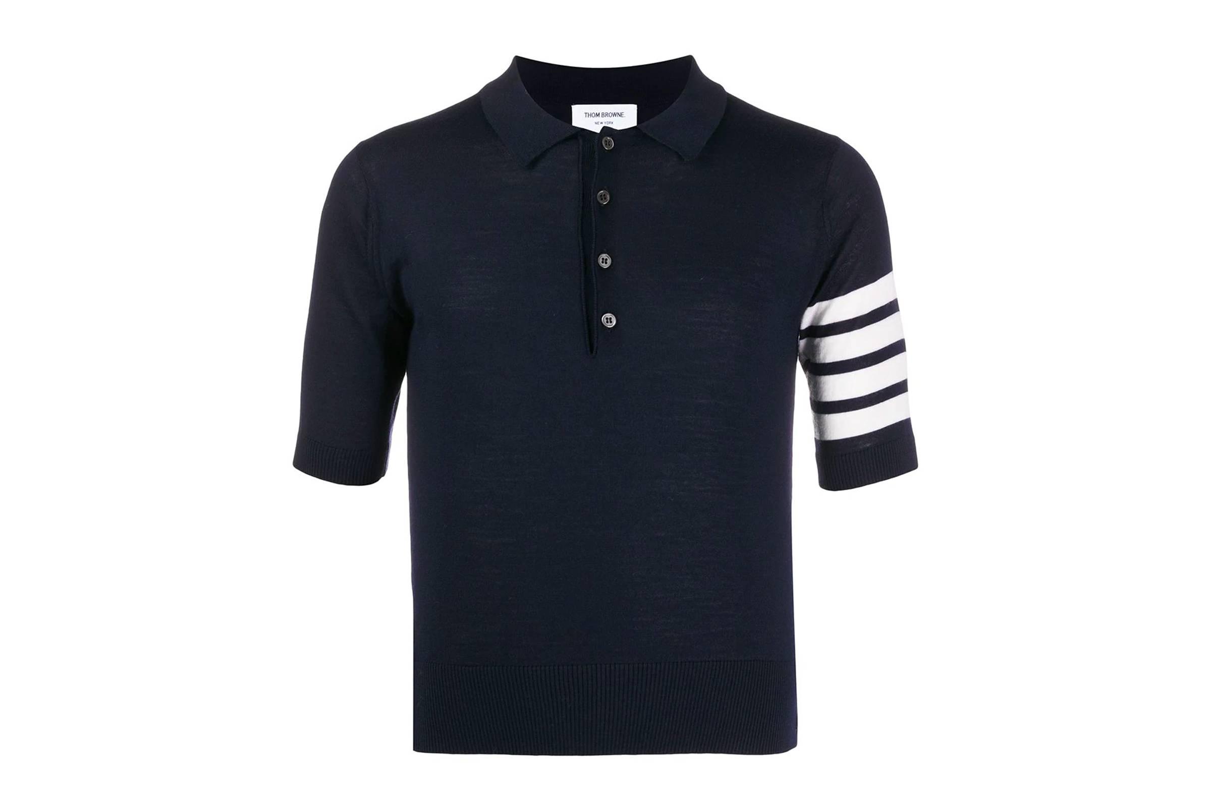 Thom Browne Short Sleeved 4-Bar Polo Shirt