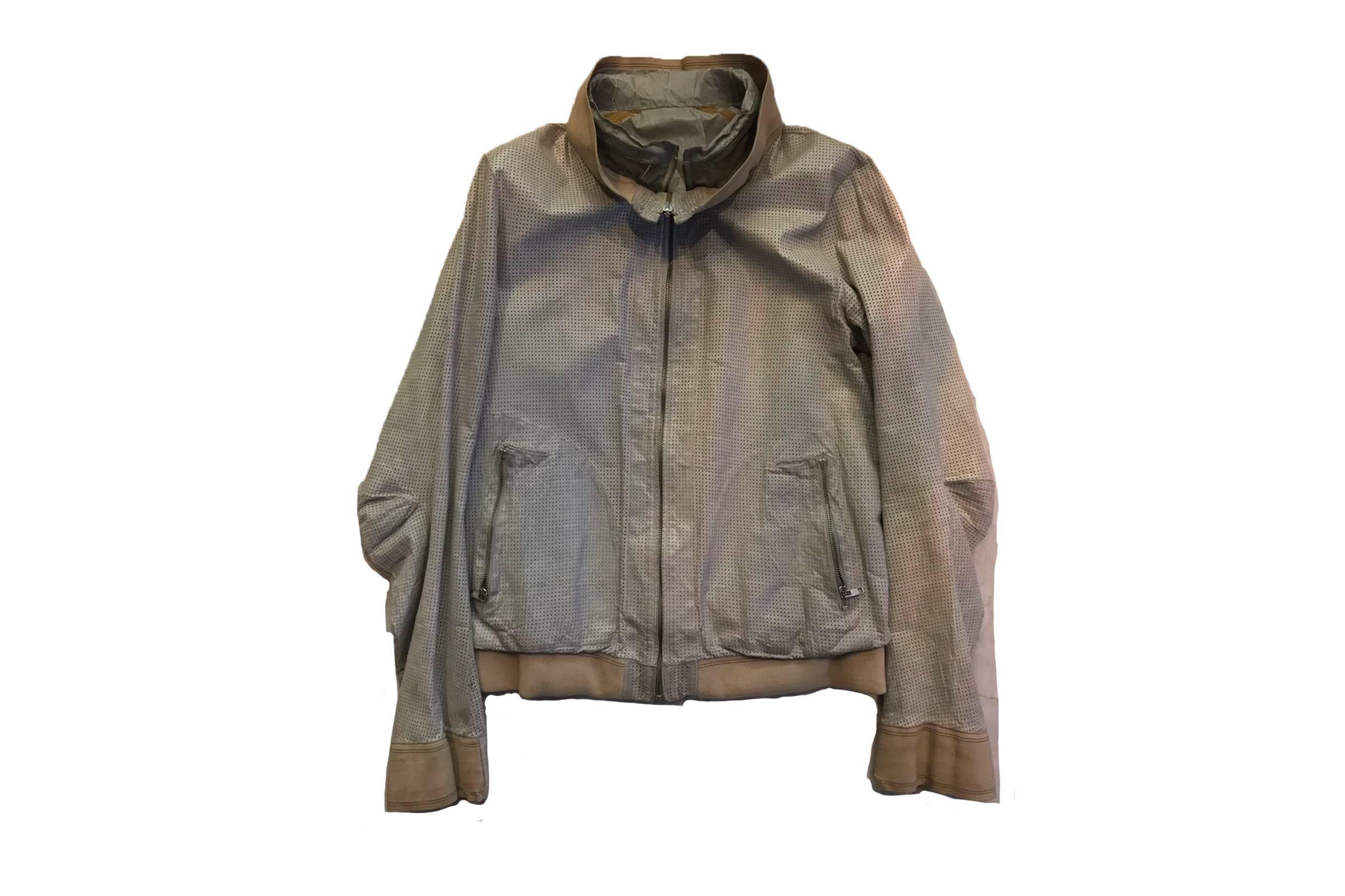 Carol Christian Poell LM/2399 Leather/Nylon Jacket
