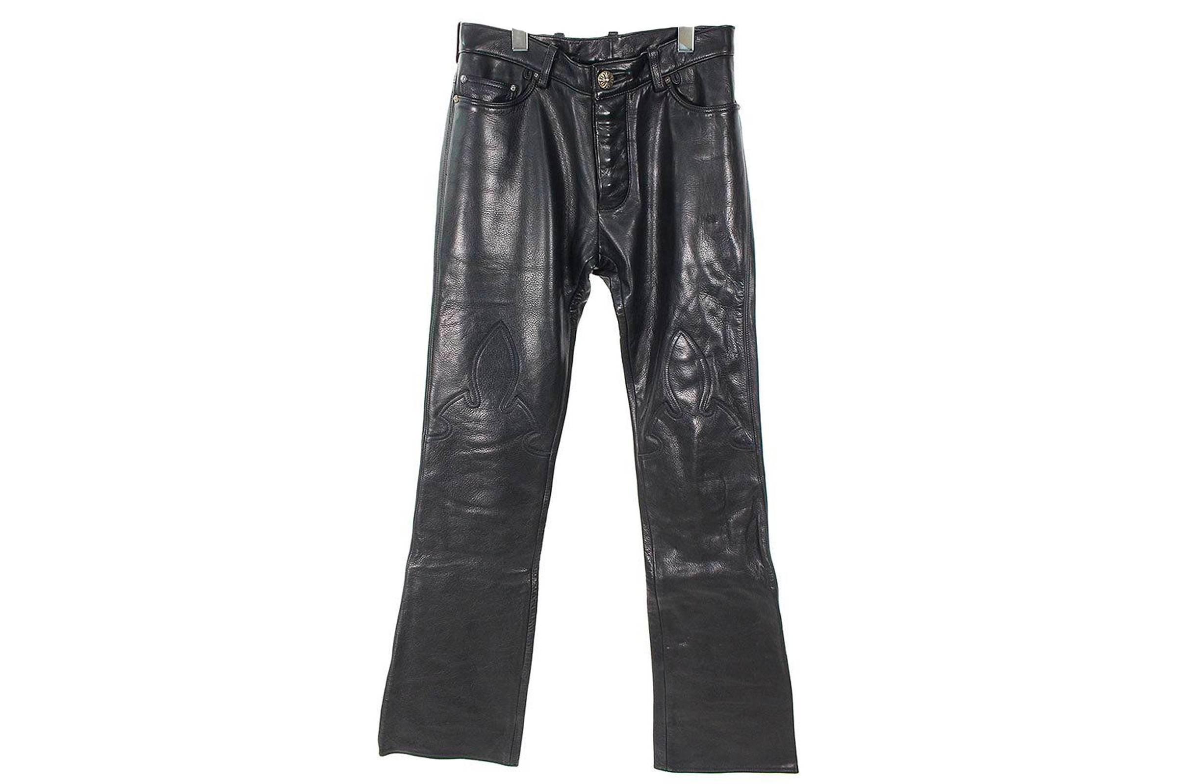 Chrome Hearts Leather Motorcycle Jeans