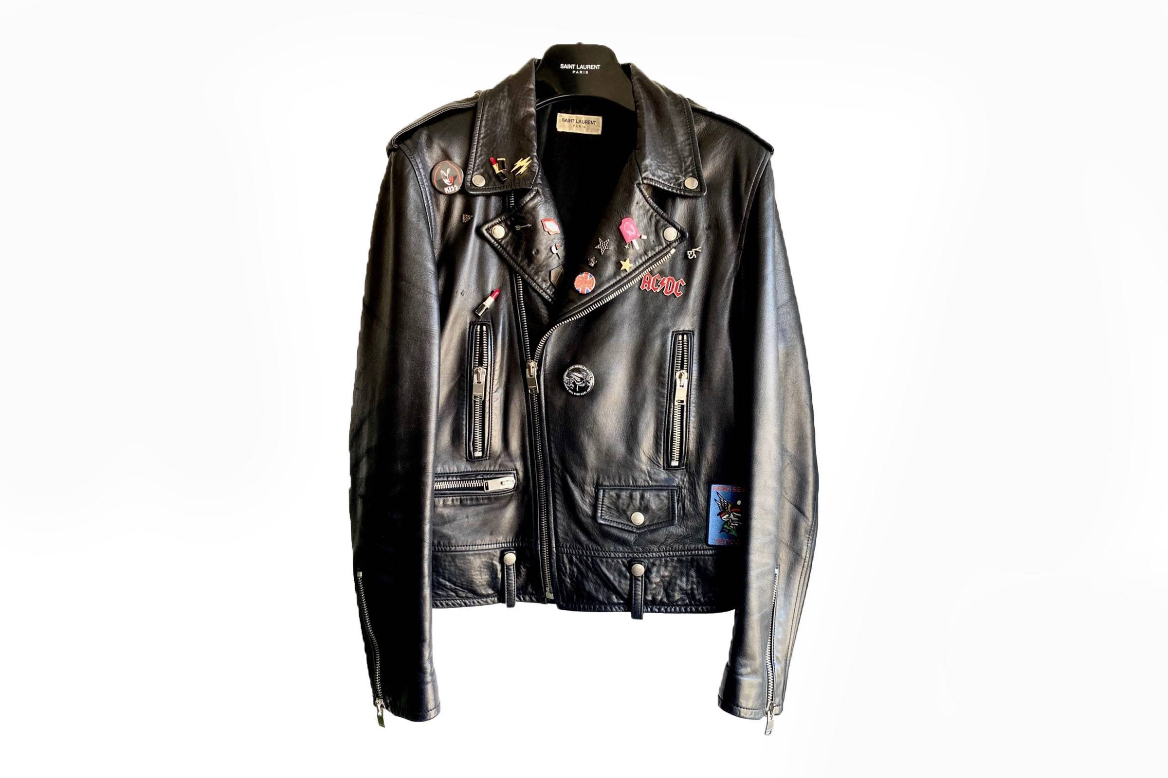 Saint Laurent Paris Fall/Winter 2013 L01 Pins Biker Jacket