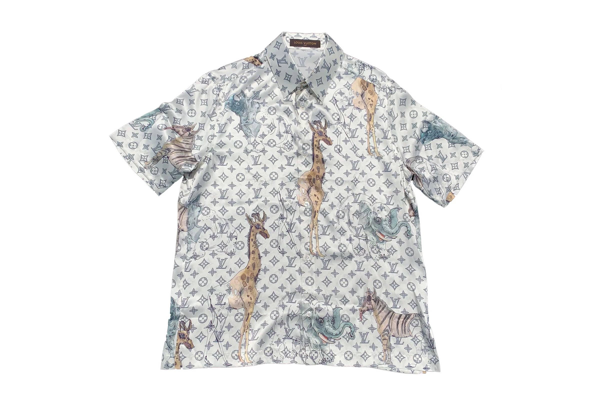7. Louis Vuitton x Chapman Bros Animal Print Camp Collar Shirt