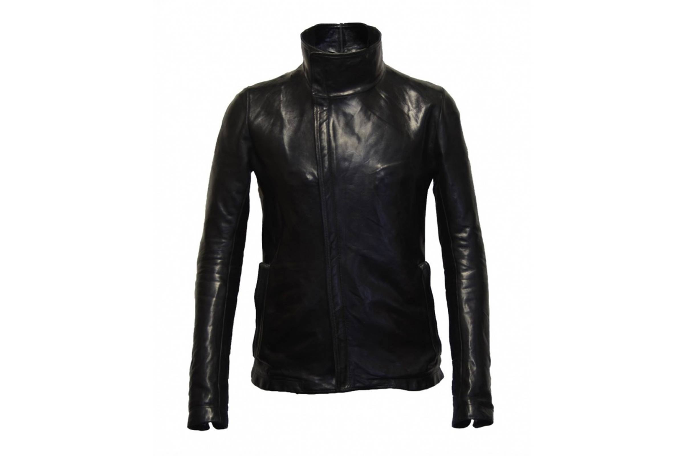 Carol Christian Poell High Neck Leather Jacket
