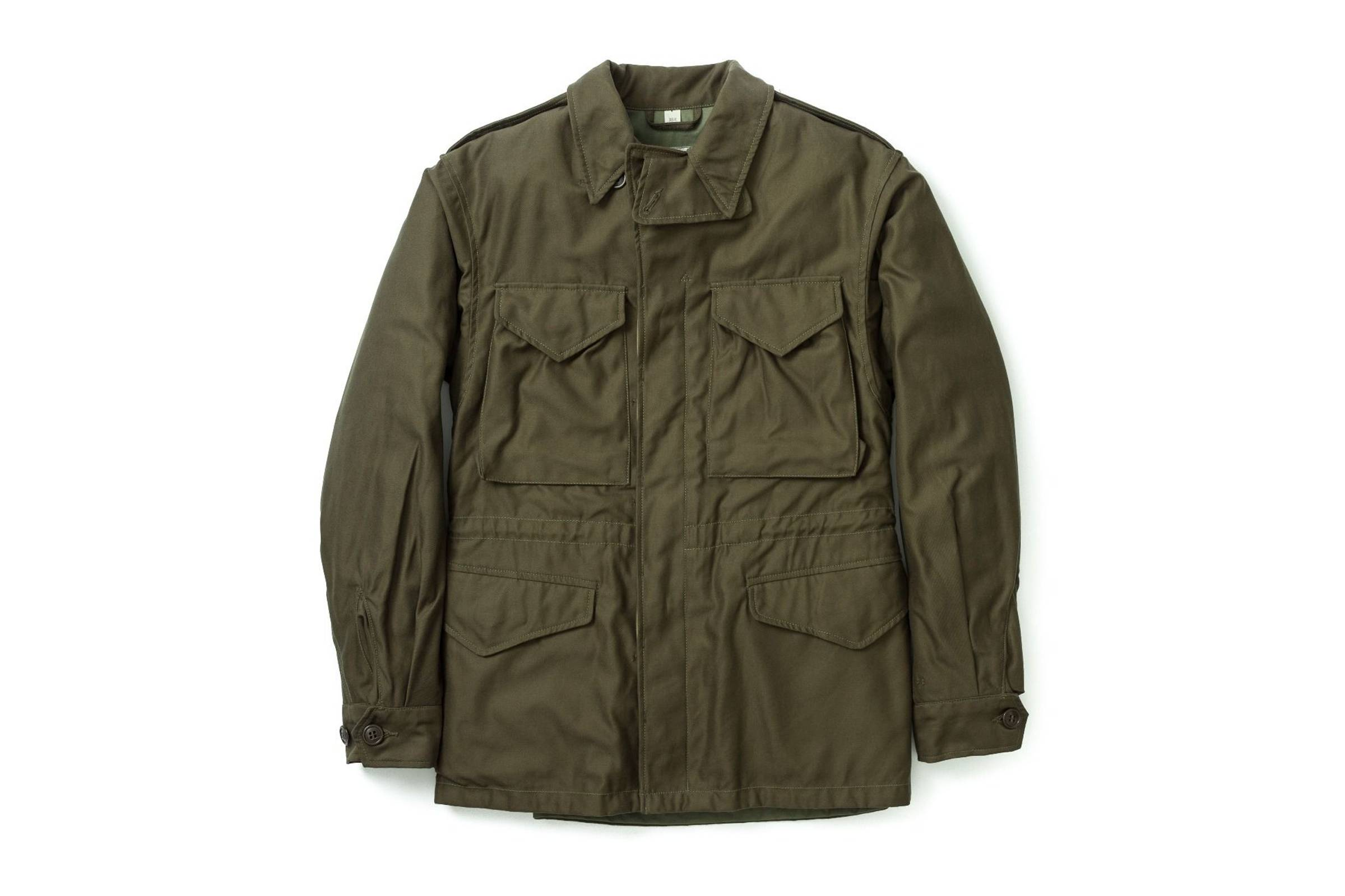 A reproduction-style M-43 feld jacket from The Real McCoy's