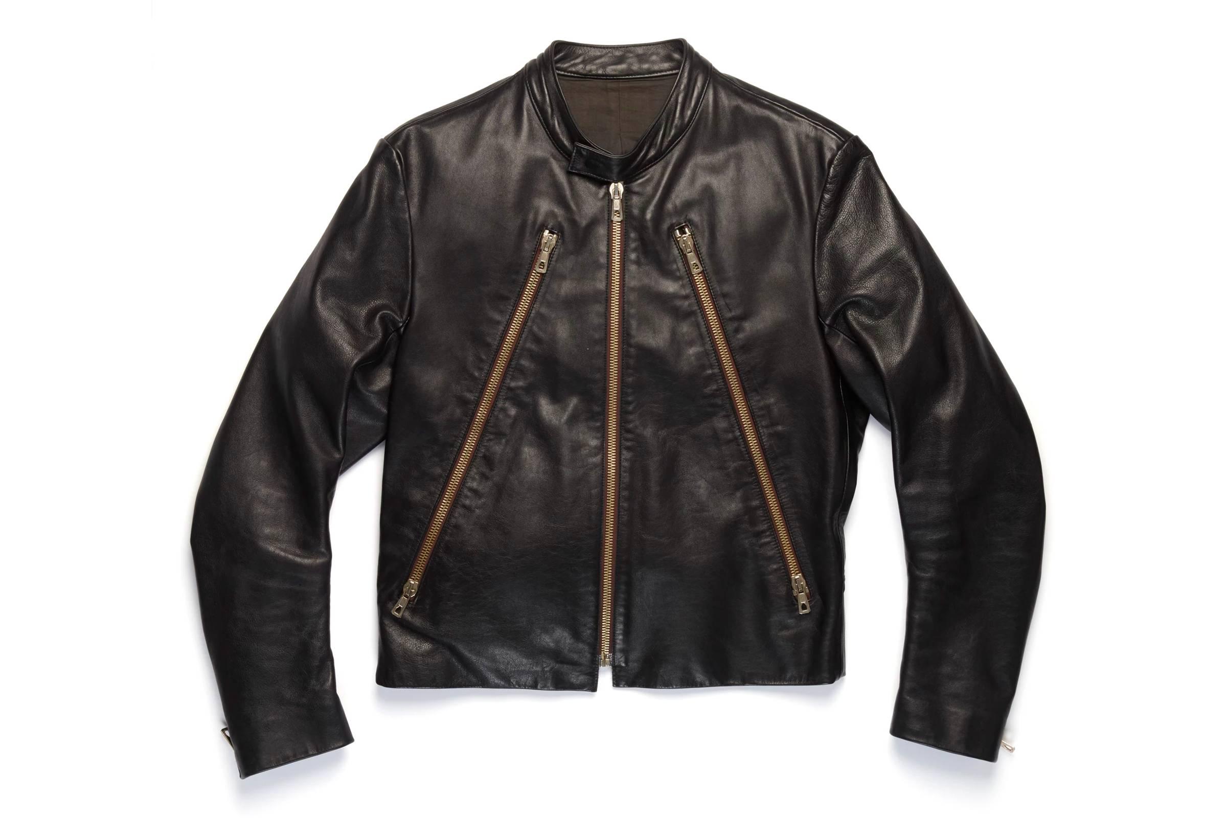 Maison Margiela 5 Zip Black Leather Jacket