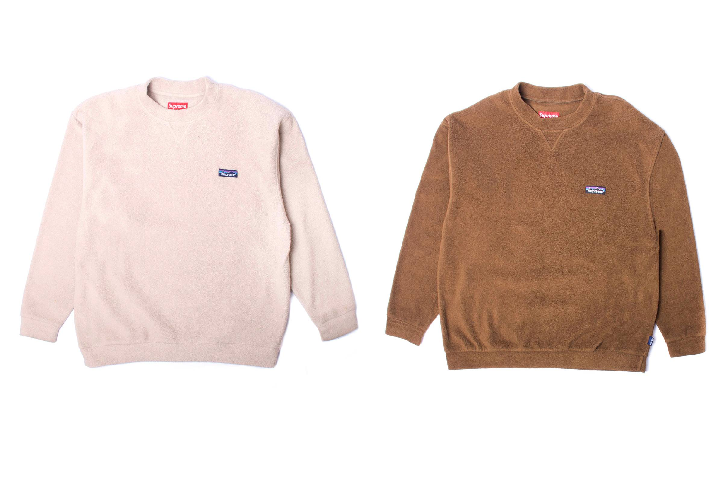 "Supreme ""Patagonia"" Fleece Sweatshirts"