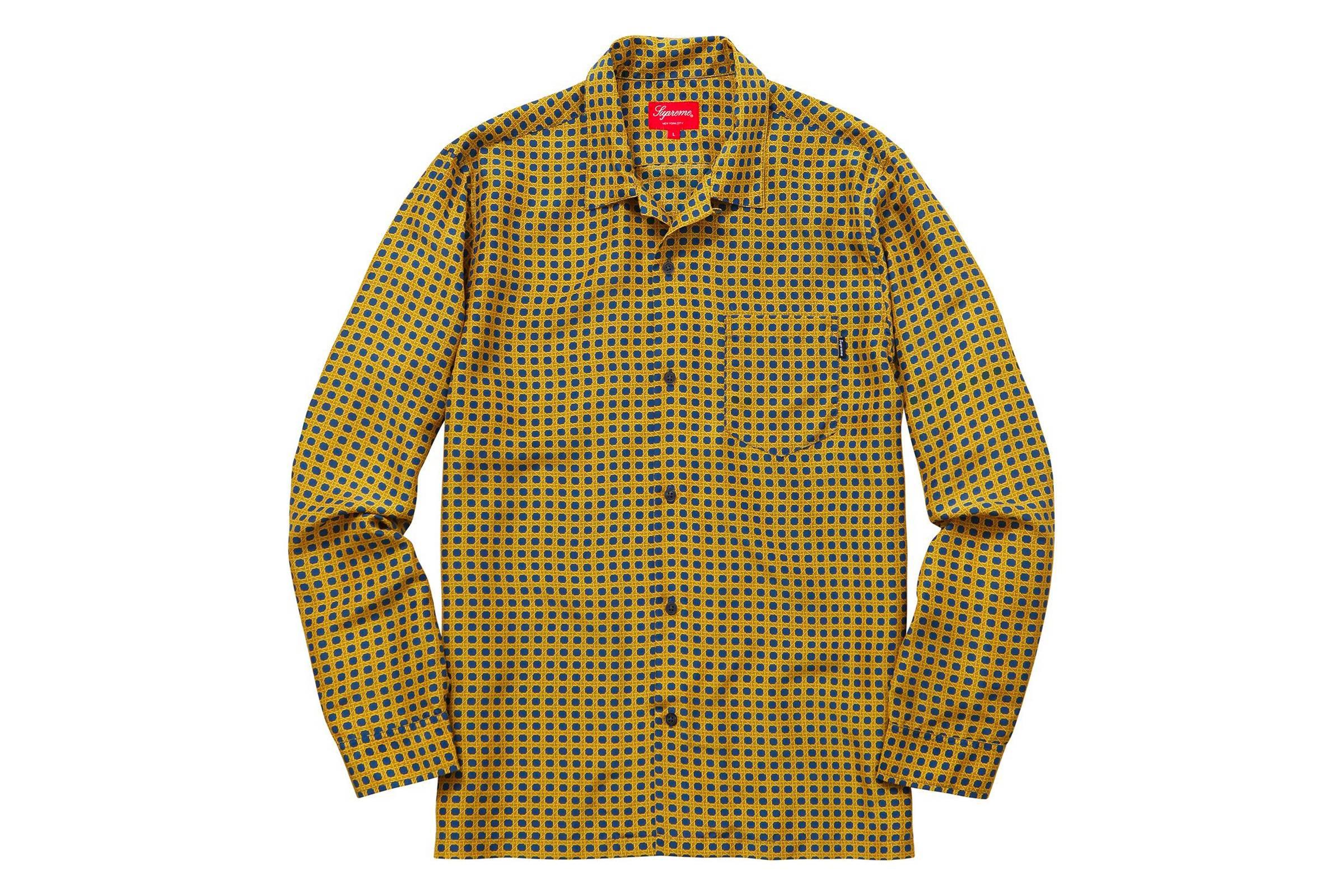 Supreme Cane Silk Shirt
