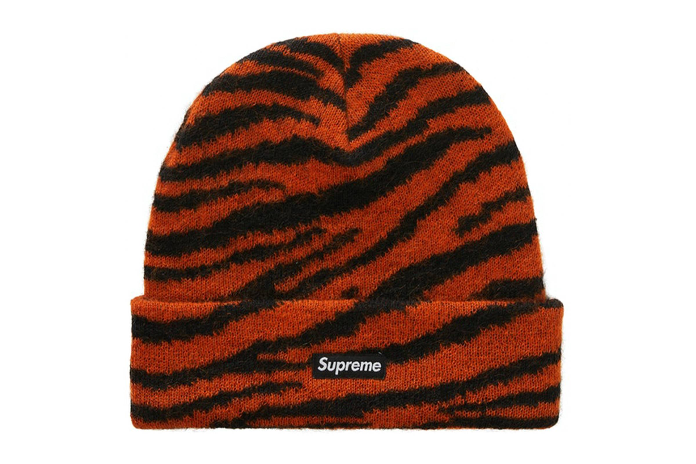 Supreme Fall/Winter 2020 Mohair Tiger Stripe Beanie