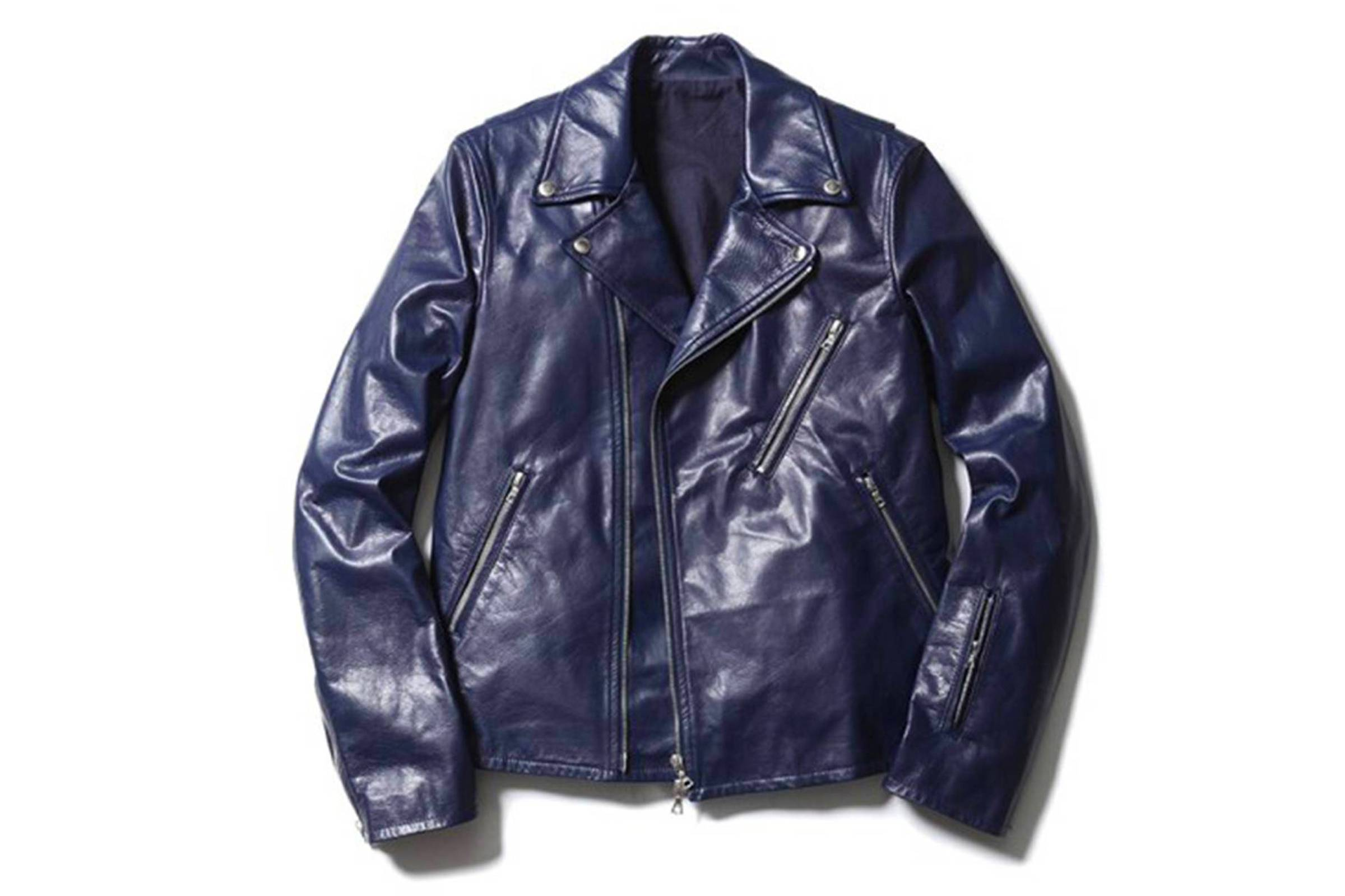 Sophnet. Navy Leather Rider
