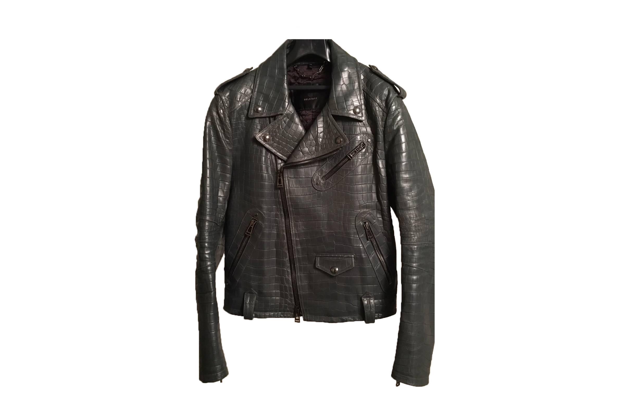 Belstaff Crocodile Leather Motorcycle Jacket