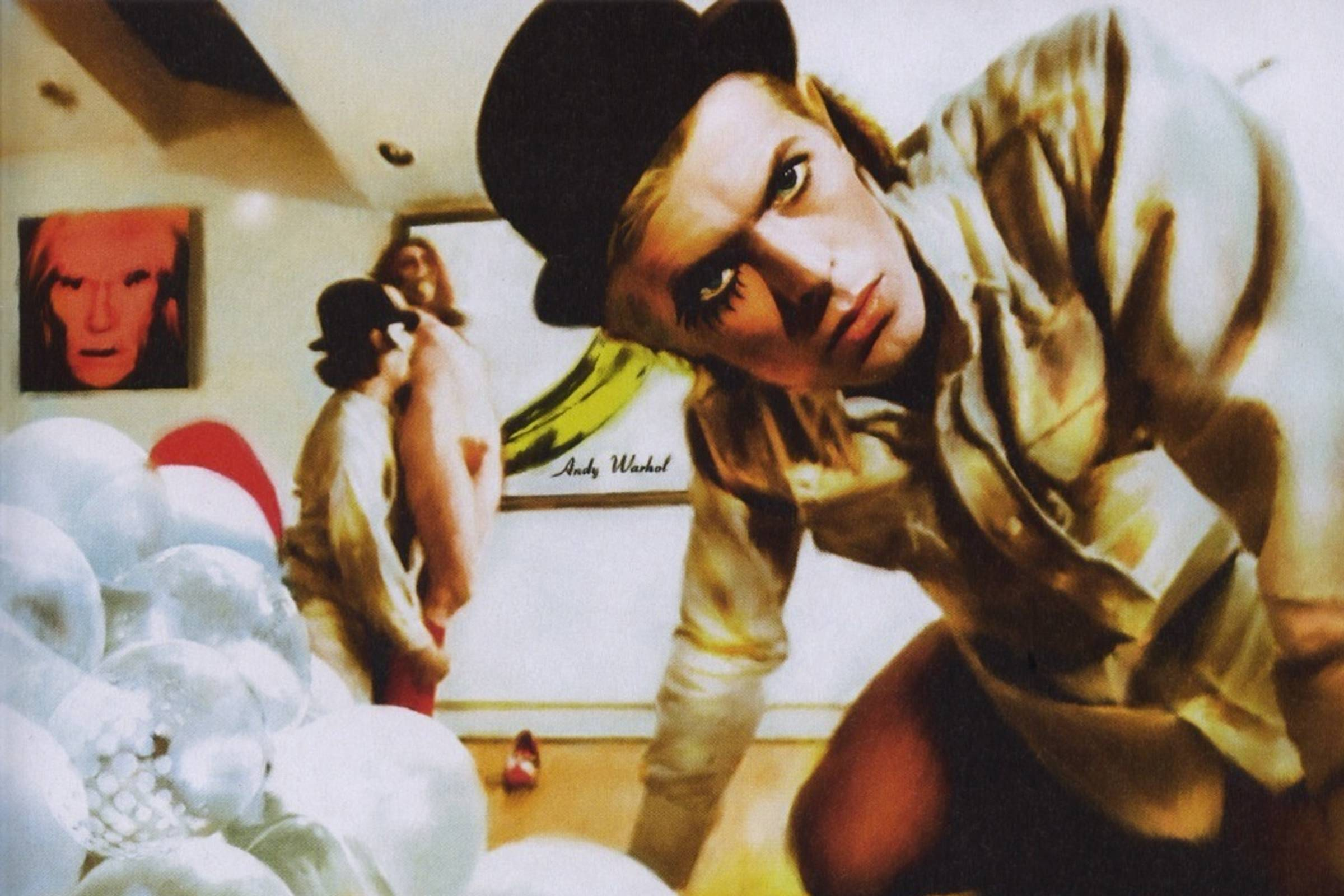 "David Bowie posing as Alex DeLarge during ""A Clockwork Orange""'s infamous break-in rape scene"