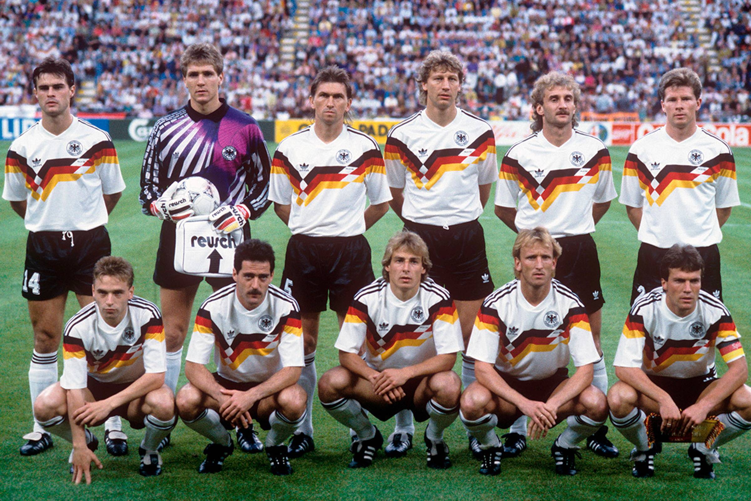 d331b0ed1 Speaking of Italia '90, West Germany's kit from that tournament is,  arguably, one of the most well-known jerseys of all time, thanks to adidas'  timeless ...