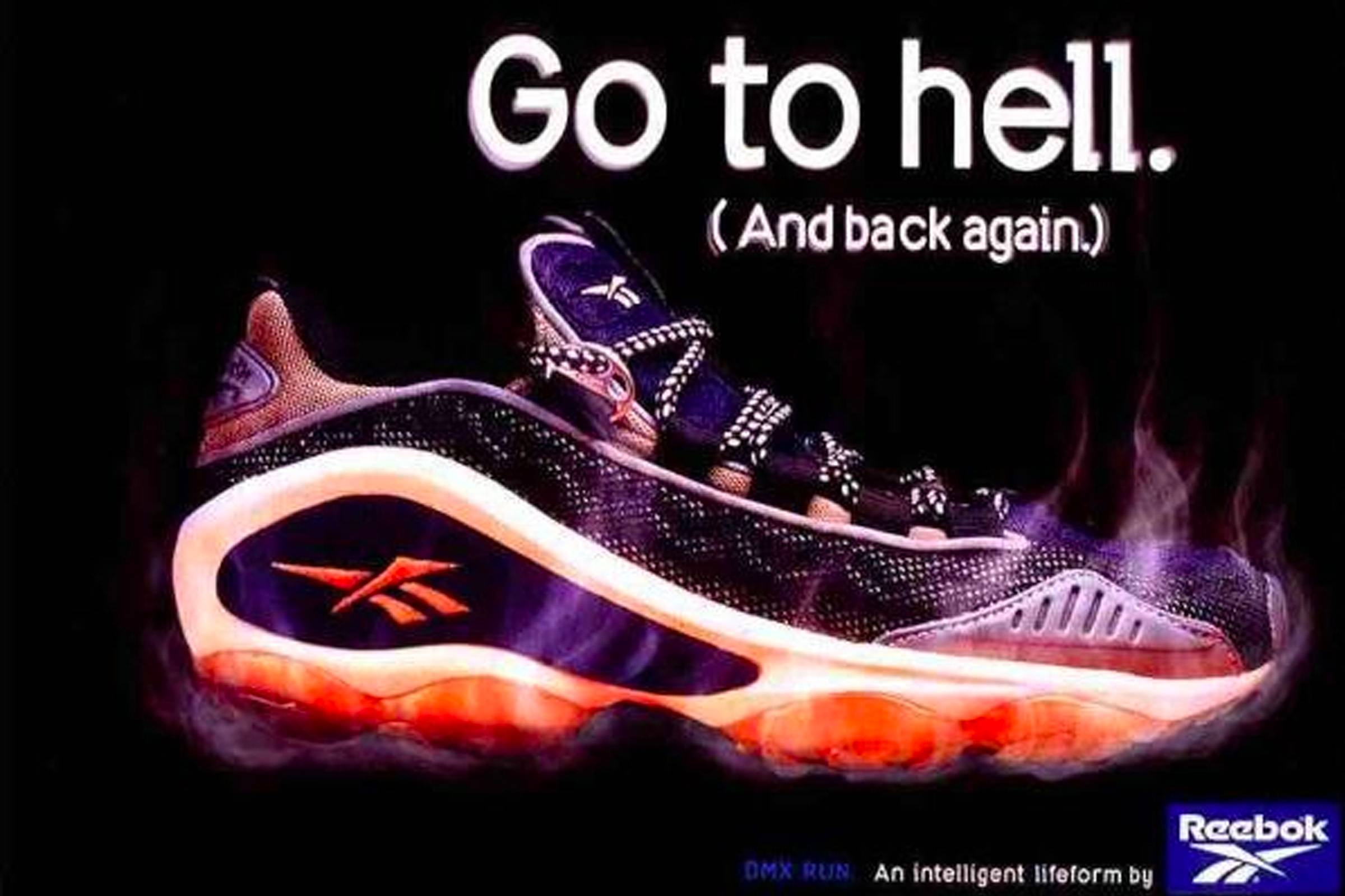 An ad for Reebok DMX technology
