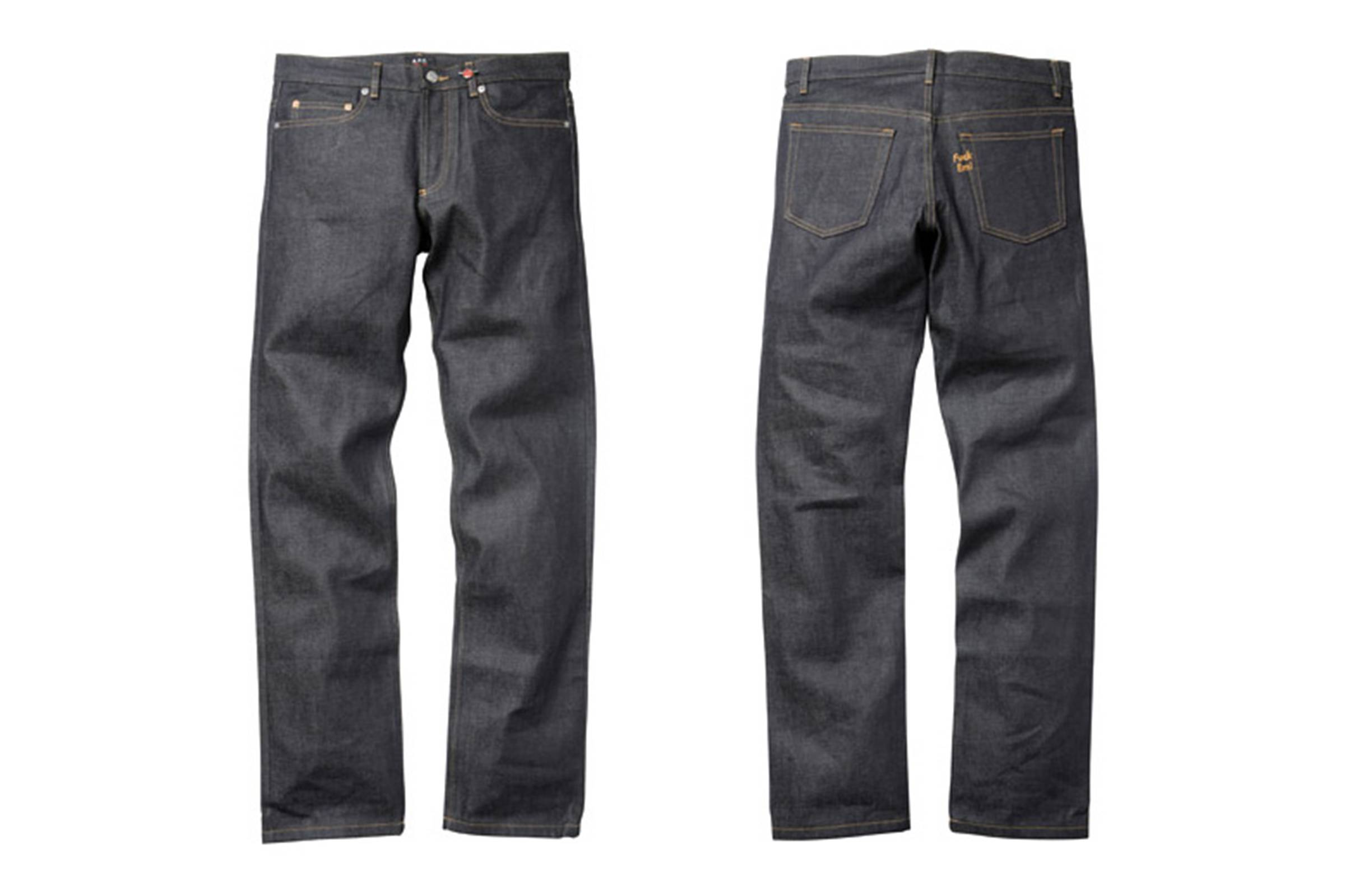 Supreme x A.P.C. Jeans made with Japanese selvedge denim (2009)