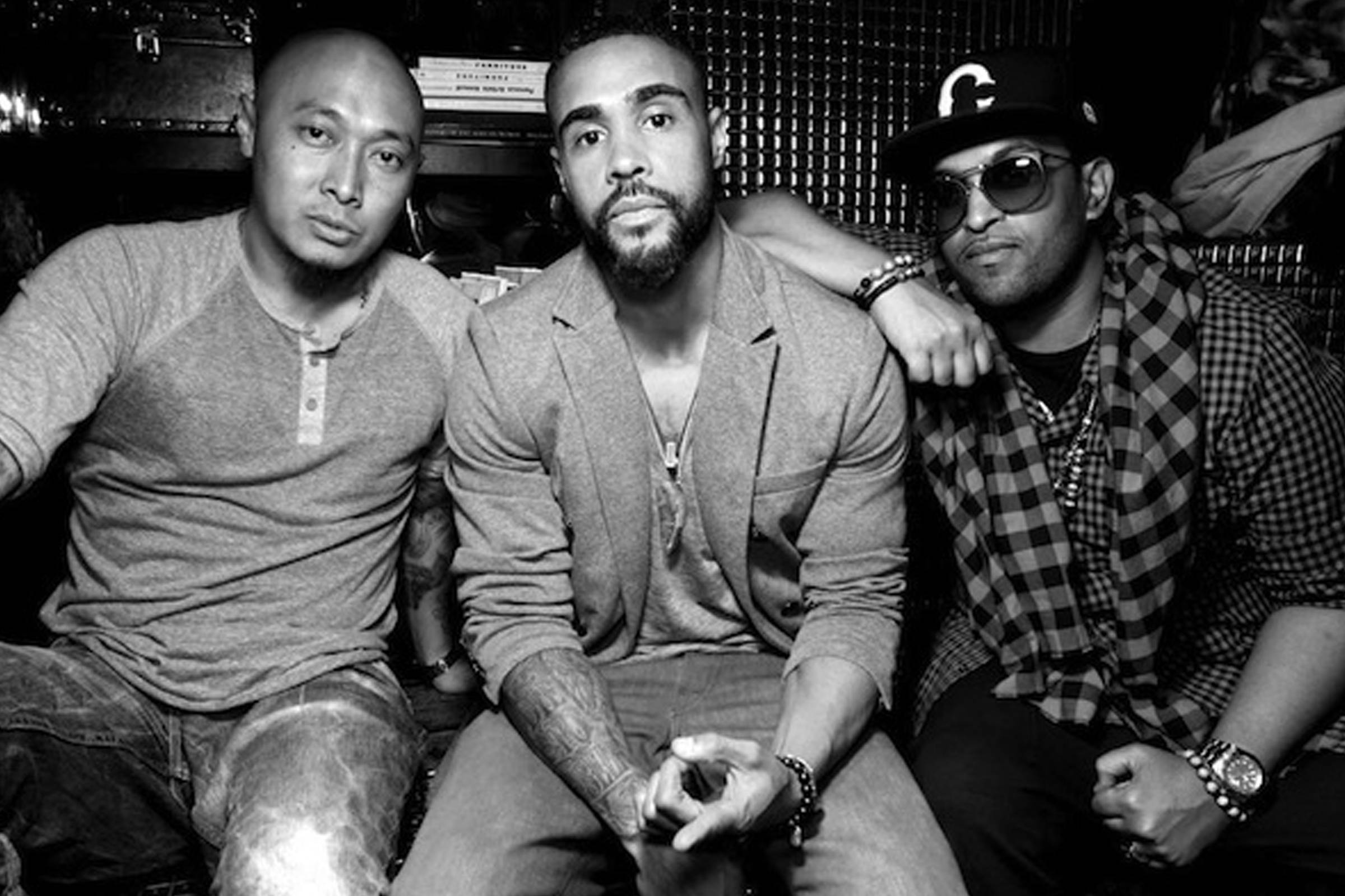 Jerry Lorenzo (center) at a club night in Los Angeles in 2011