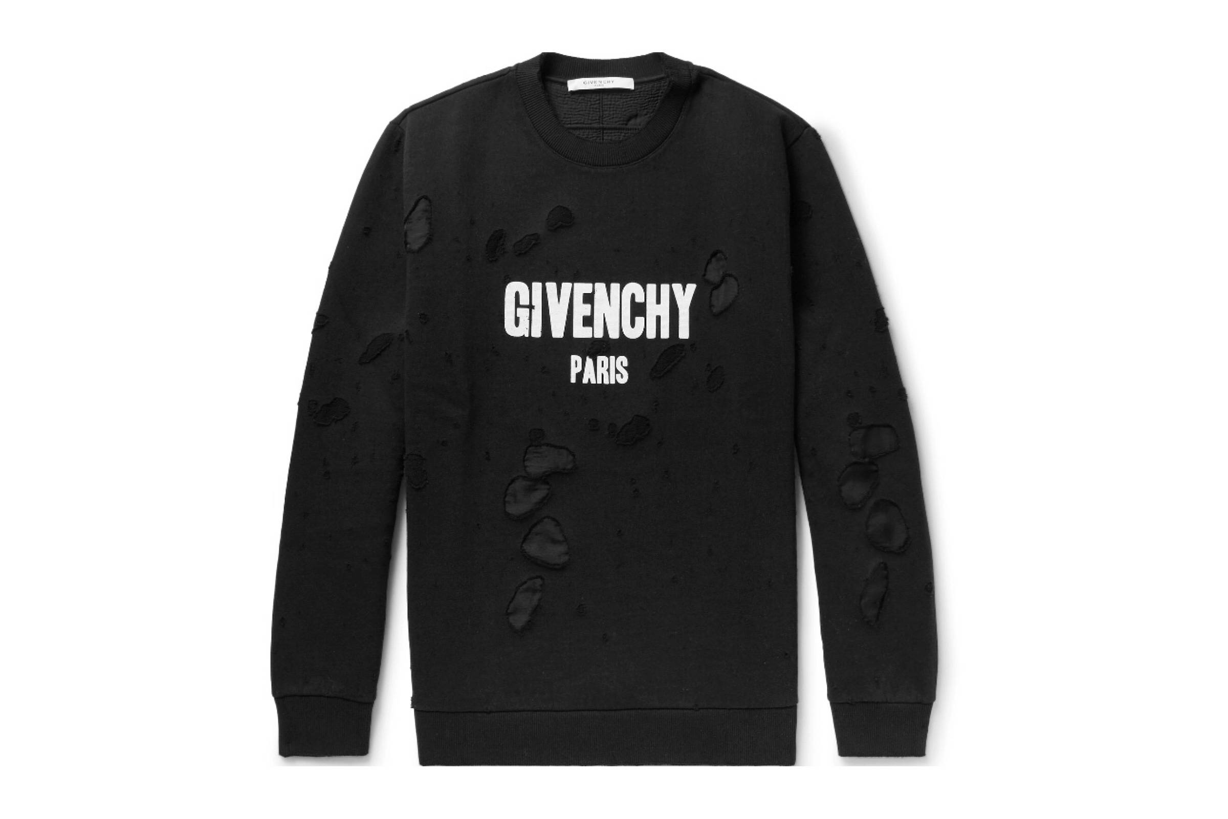 Givenchy Destroyed Logo Crewneck