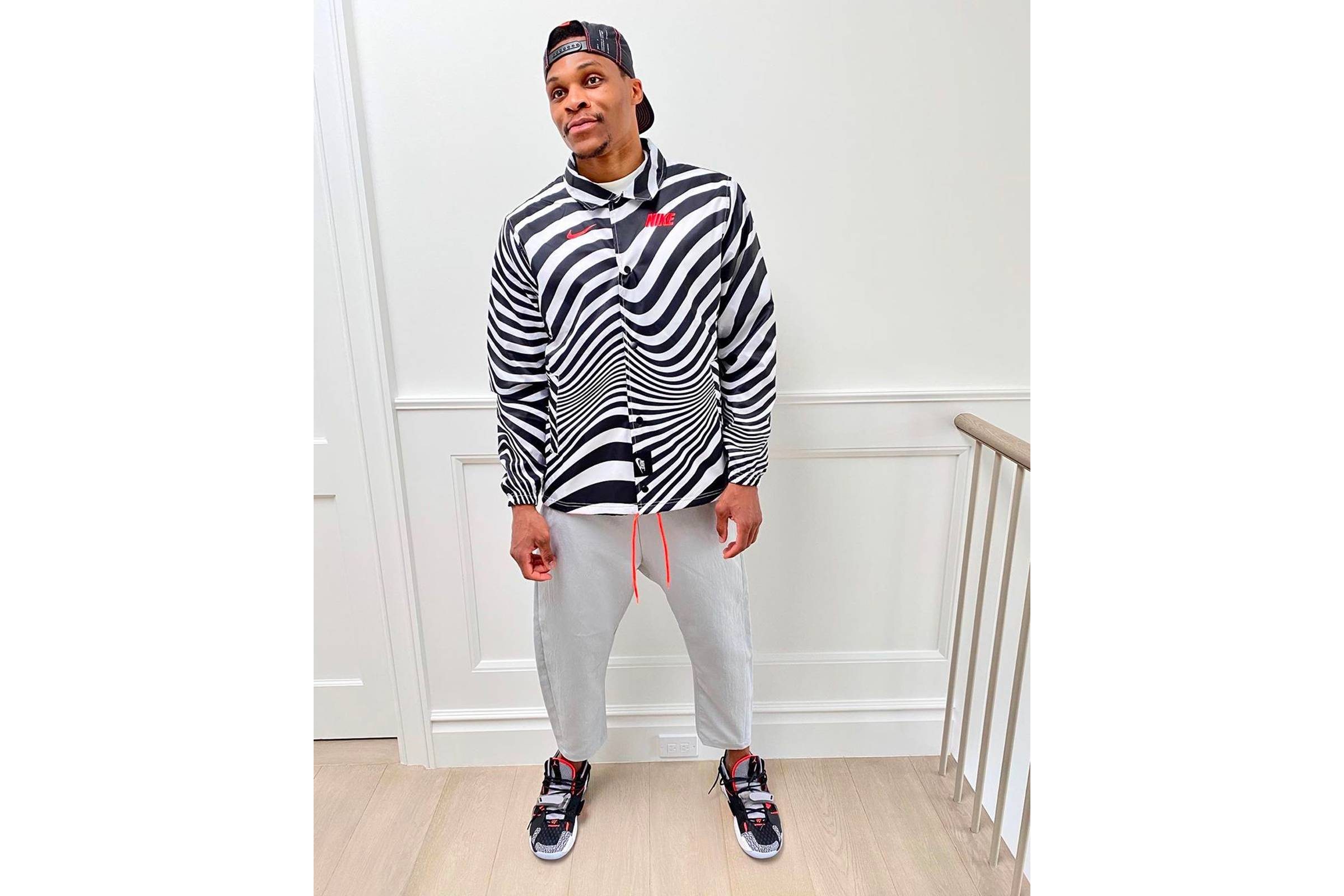 Russell Westbrook is at Home in the Hallway