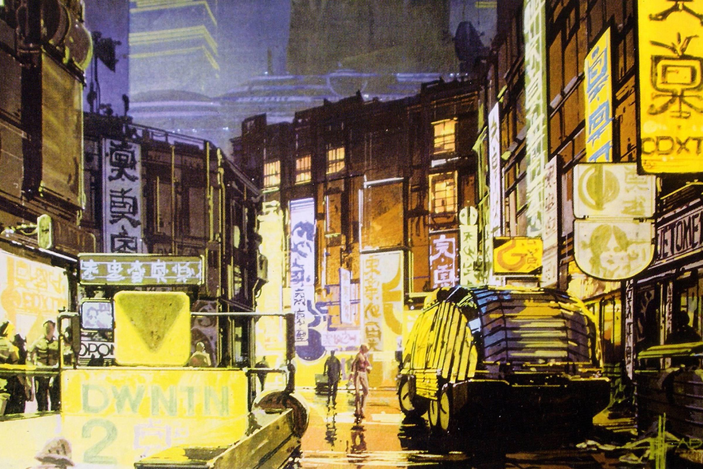 """Original concept art for """"Blade Runner"""""""