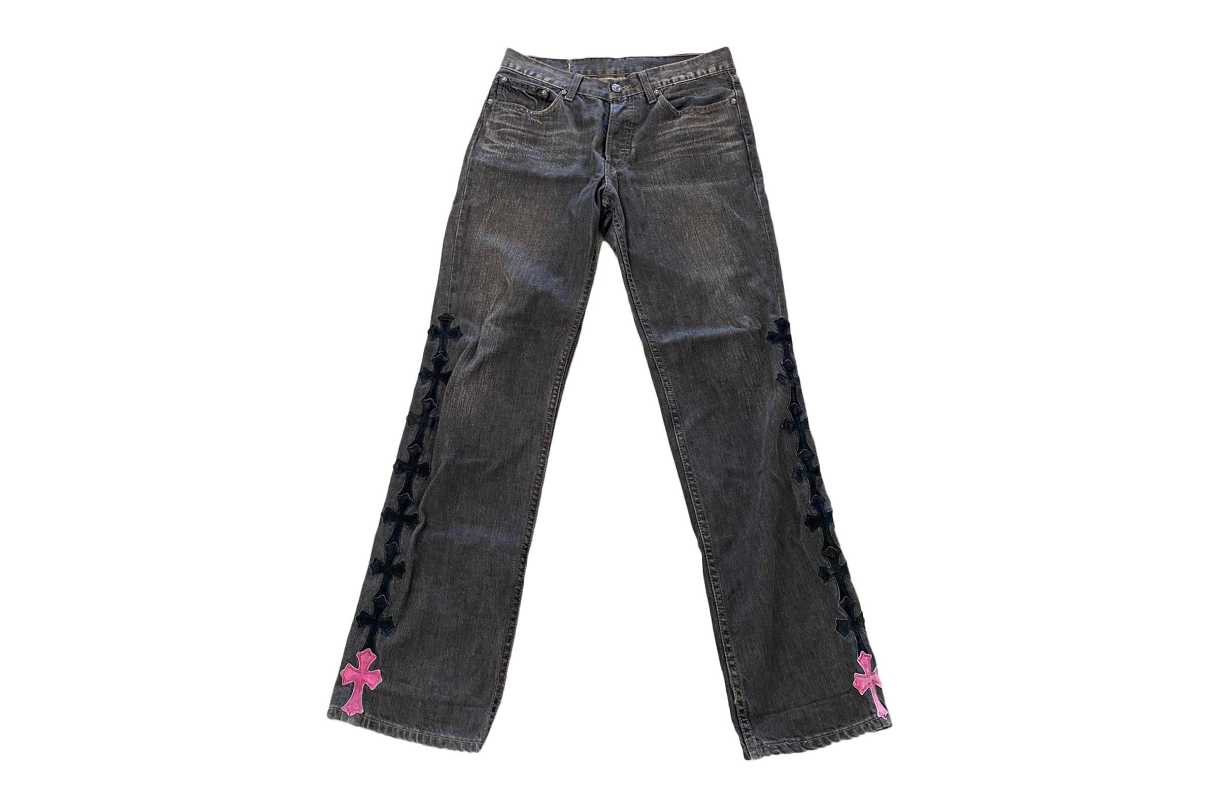 Chrome Hearts x Levi's Special Order Cross Patchwork Denim