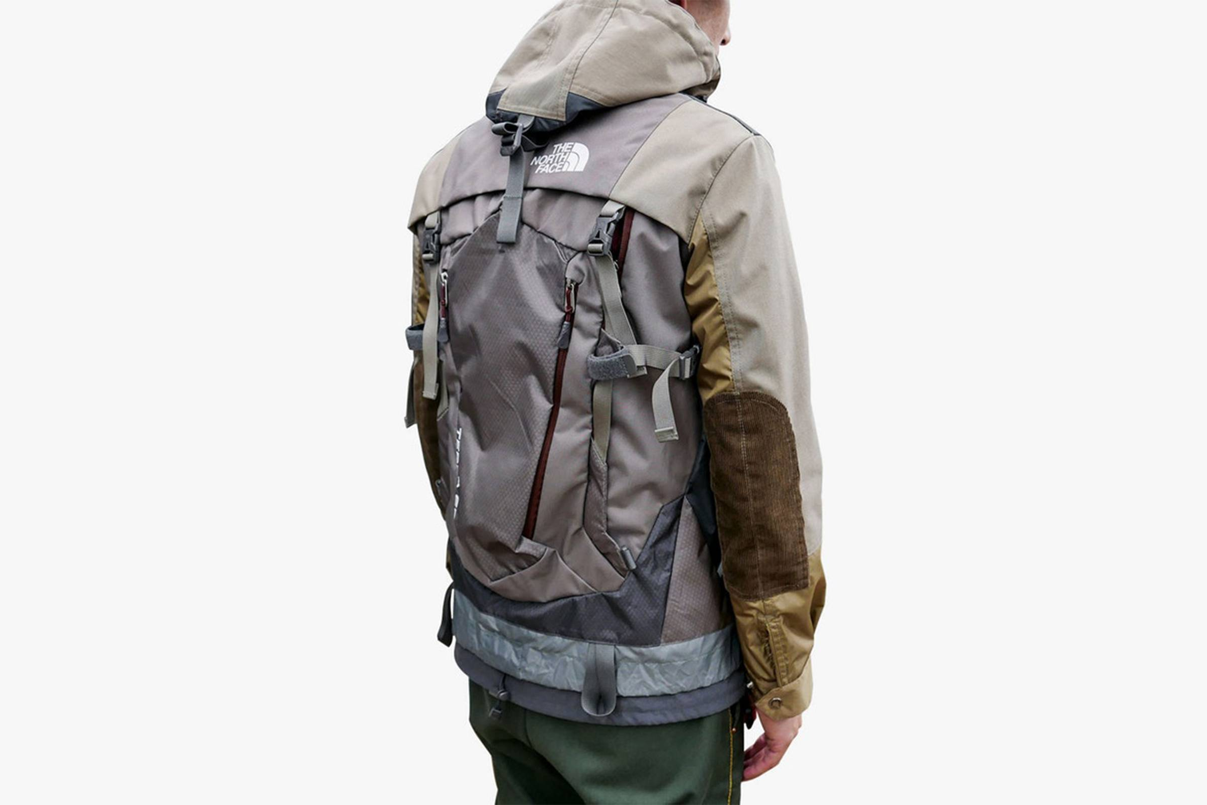 Junya Watanabe MAN x Karrimor x The North Face collaborative jacket/backpack hybrid (Spring/Summer 2018)