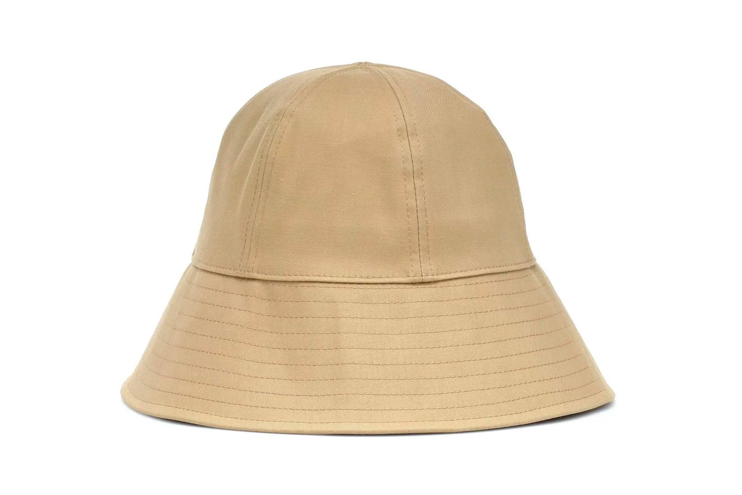 Jil Sander Beige Bonded Bucket Hat
