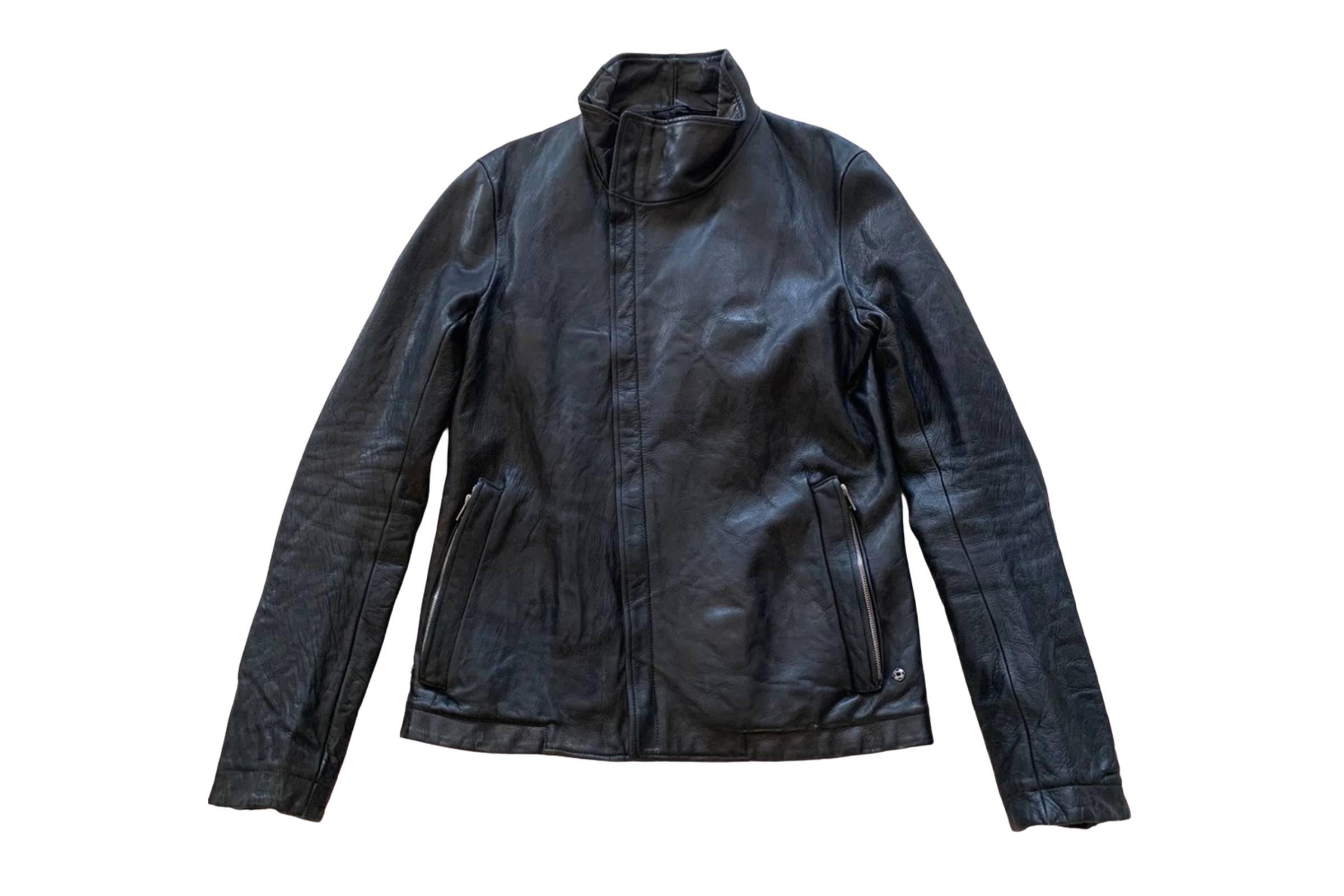 Carol Christian Poell High Neck Leather Jacket