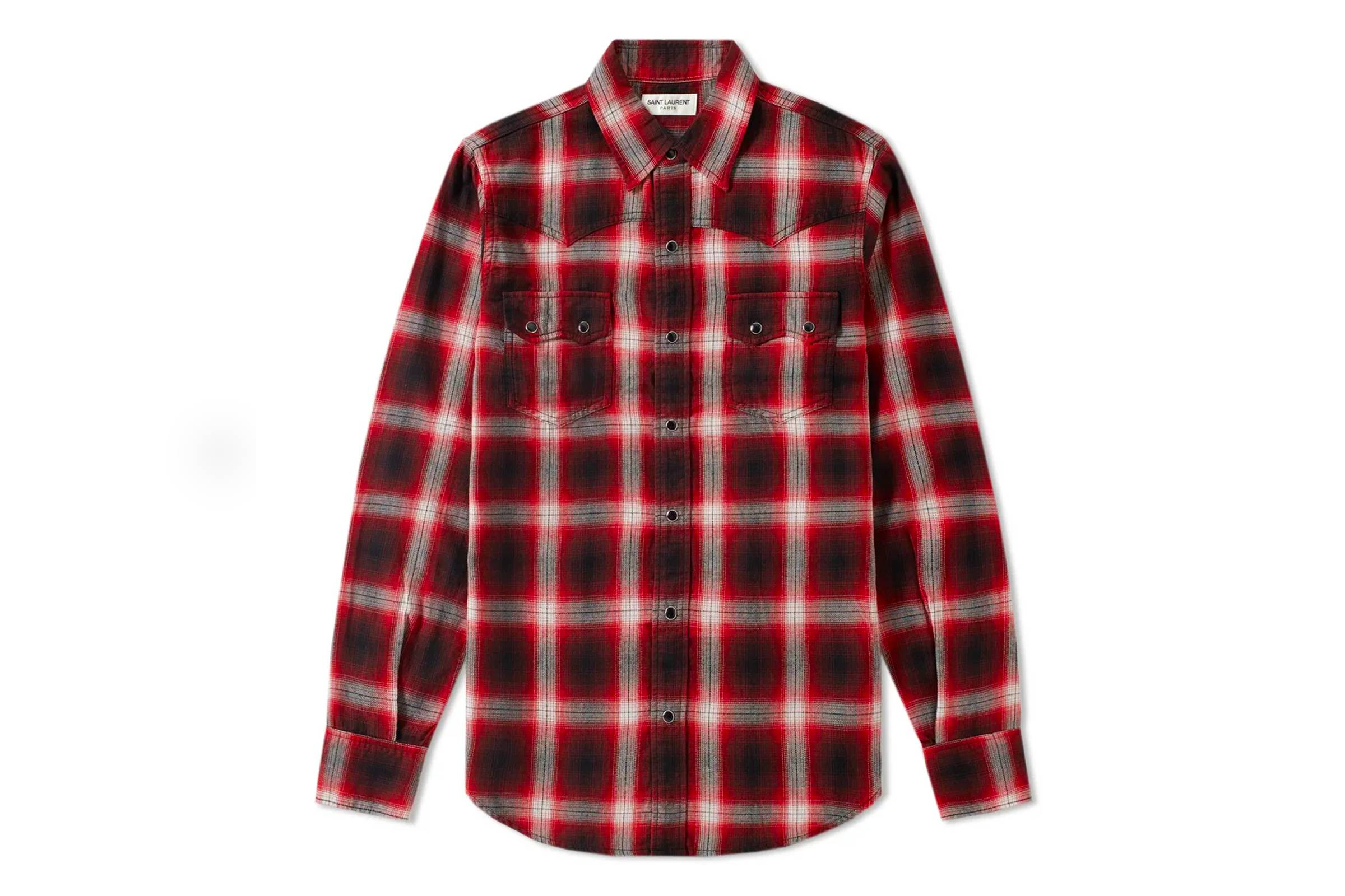 10. Saint Laurent Flannel Shirt