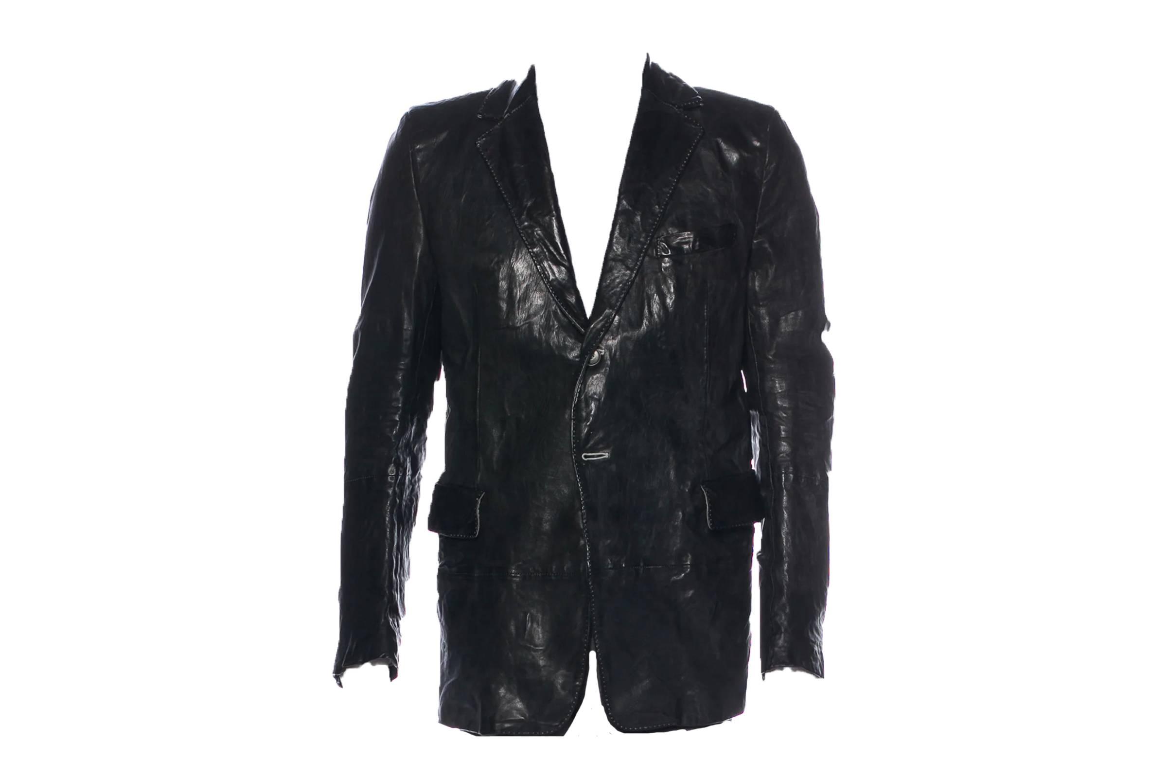 Carol Christian Poell Hammered Leather Blazer