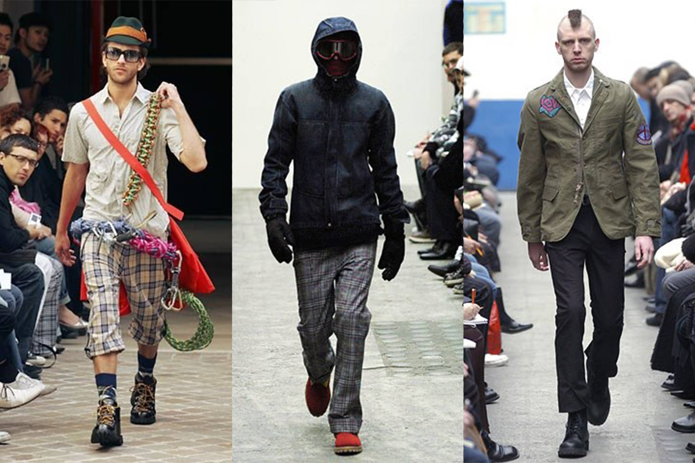 Junya Watanabe MAN, from left to right: Spring/Summer 2005, Fall/Winter 2005, Fall/Winter 2006