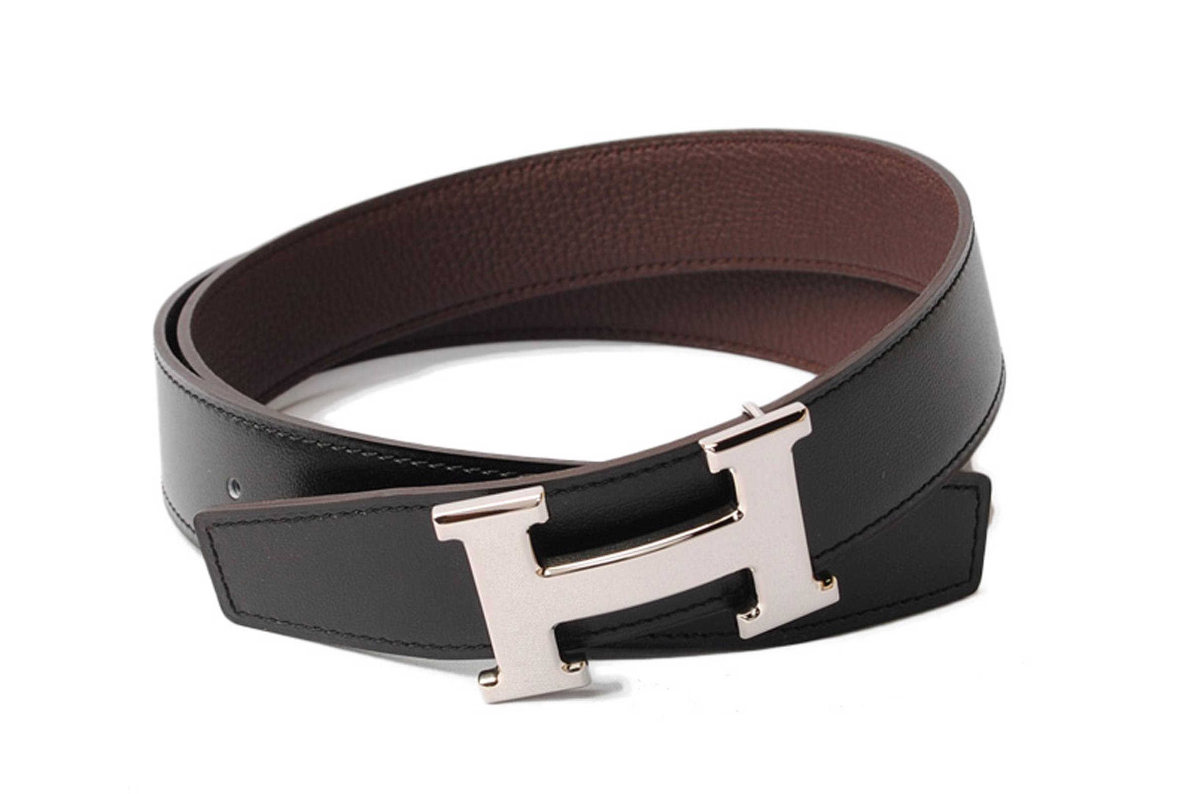 "Hermès ""H"" Belt Buckle with Reversible Strap"