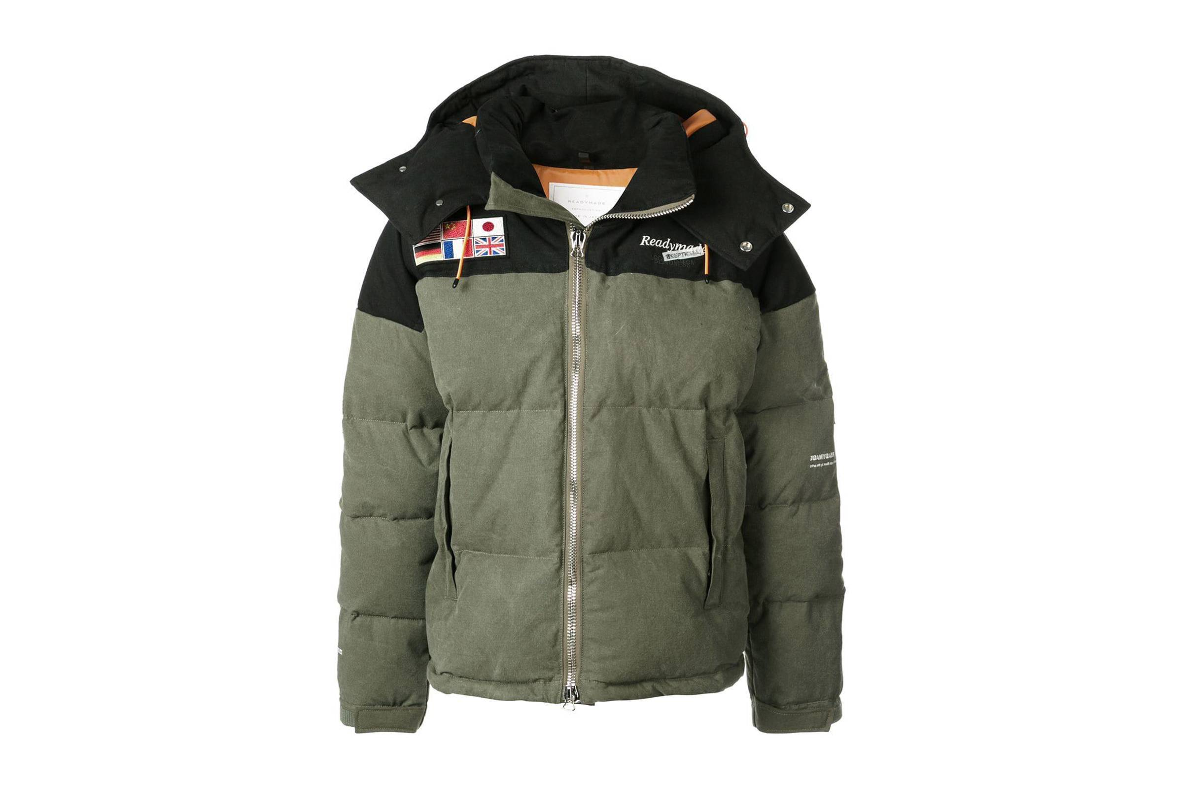 Readymade Flag Patch Down Jacket