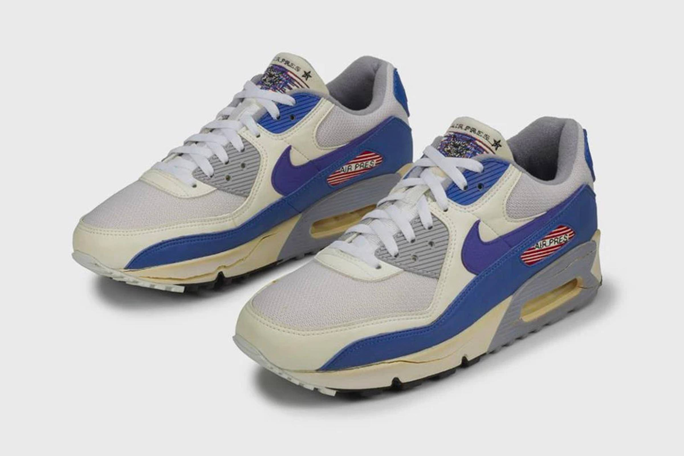 "George H.W. Bush's custom Air Max 90 ""Air Pres"""