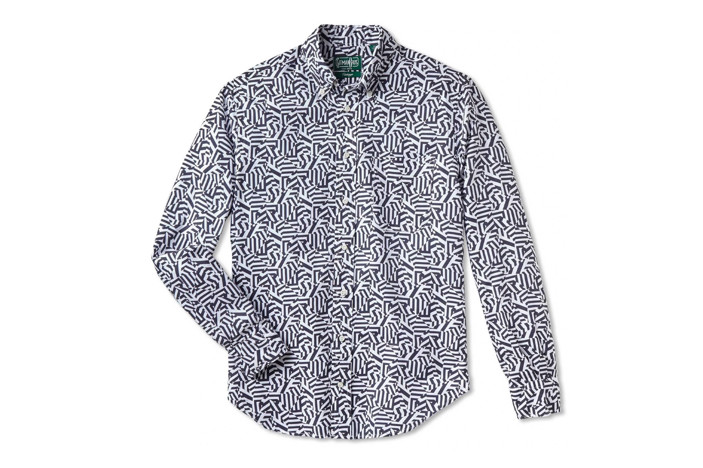 Gitman Bros. Vintage Printed Oxford Shirt