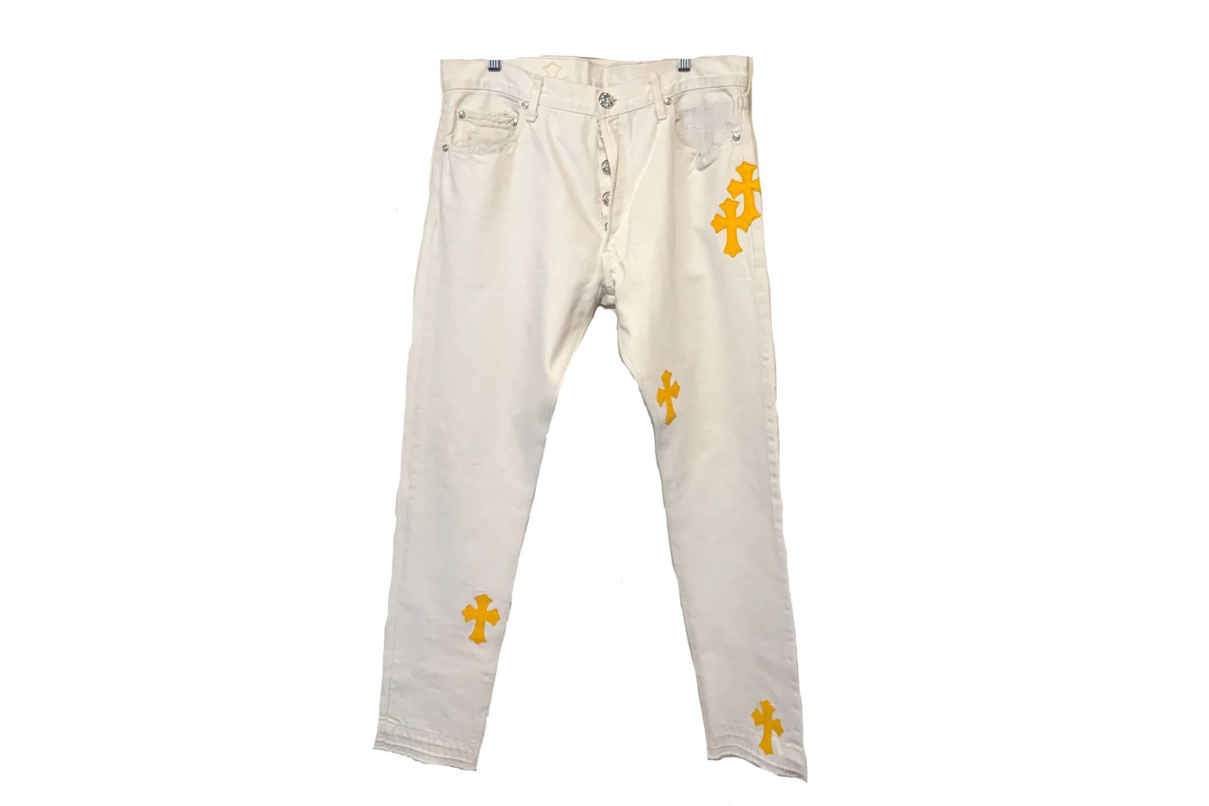 Chrome Hearts Leather Applique Jeans (Selfridges London Exclusive)