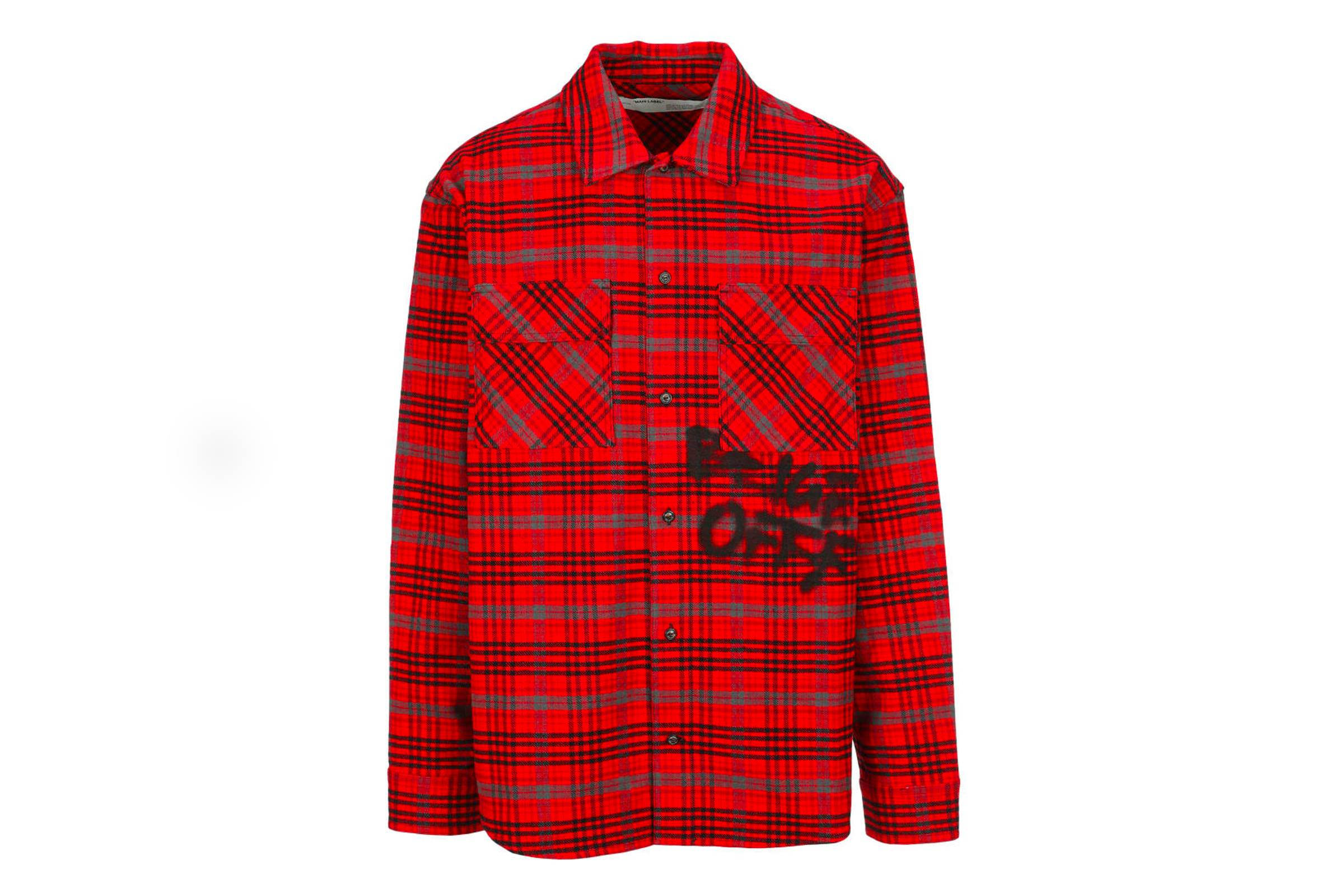 5. Off-White Flannel Shirt