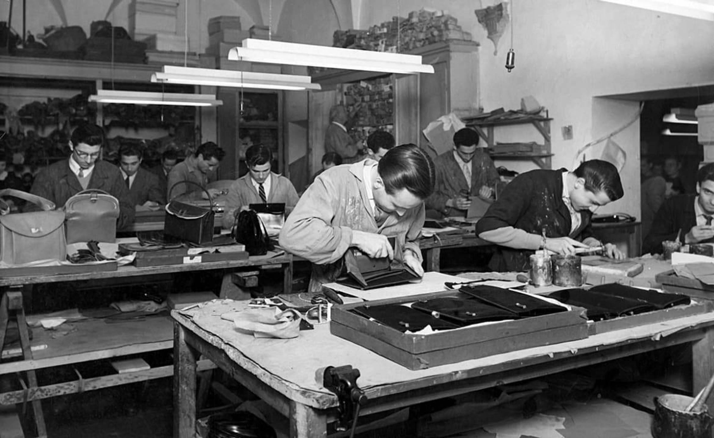 The original Florentine Gucci atelier, opened by Guccio Gucci (c. 1920s)