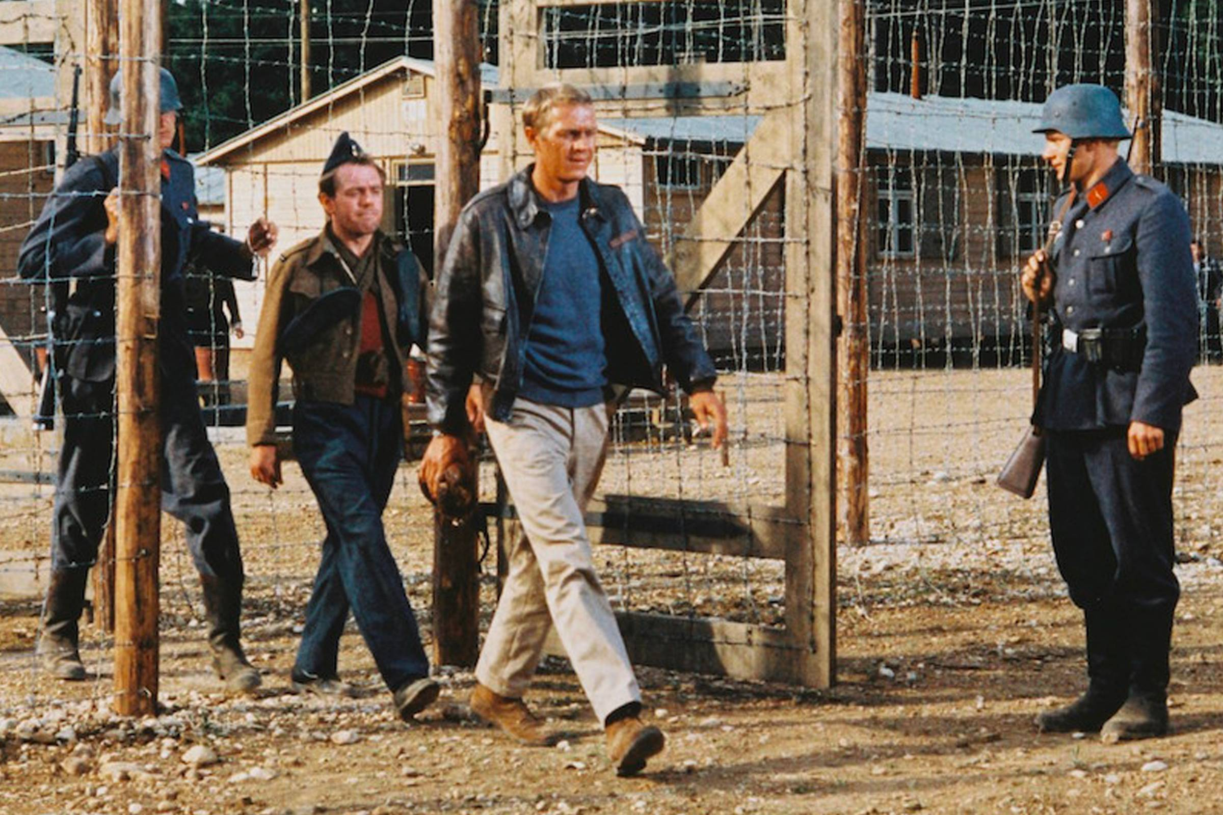 """Steve McQueen in """"The Great Escape"""" (second from right)"""