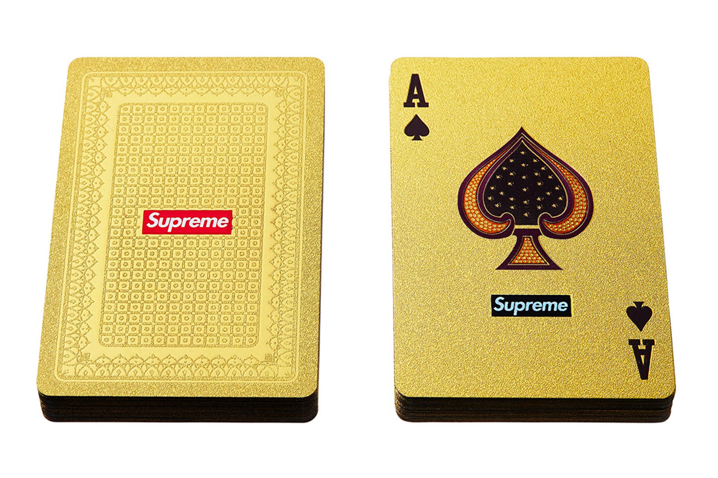 Supreme Gold Deck Playing Cards (Fall/Winter 2013