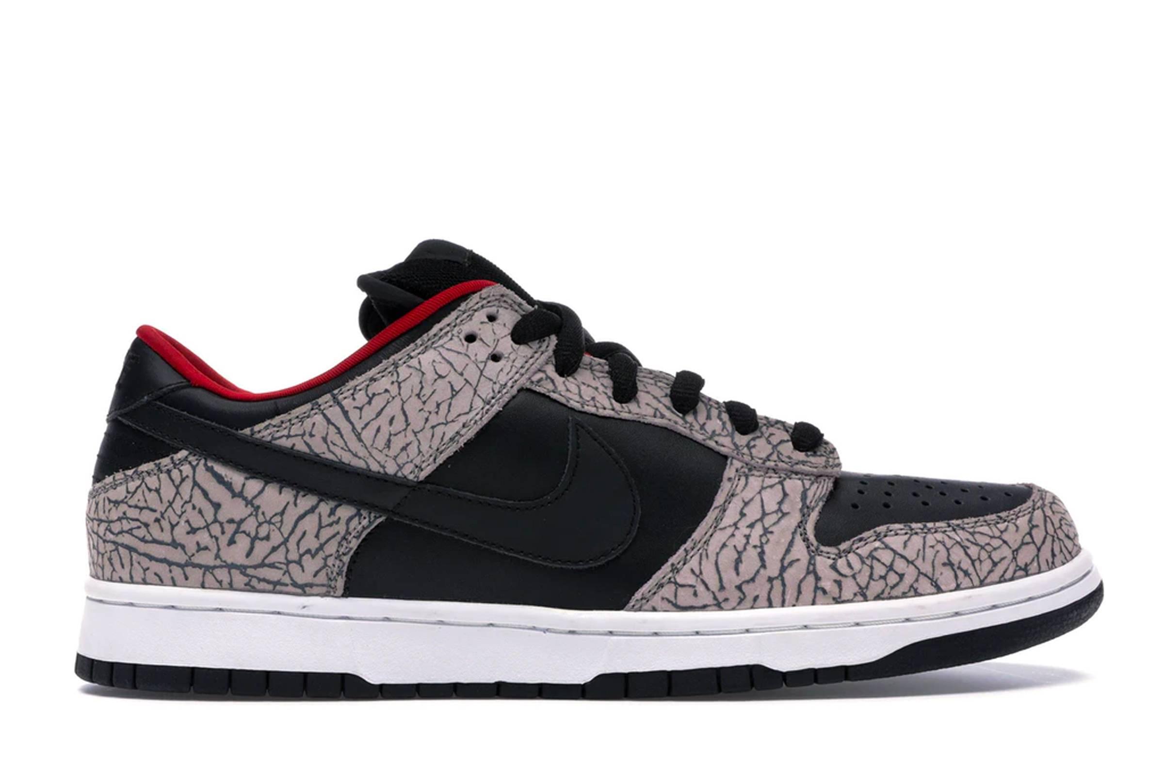 """Supreme x Nike SB Dunk Low """"Black Cement"""""""