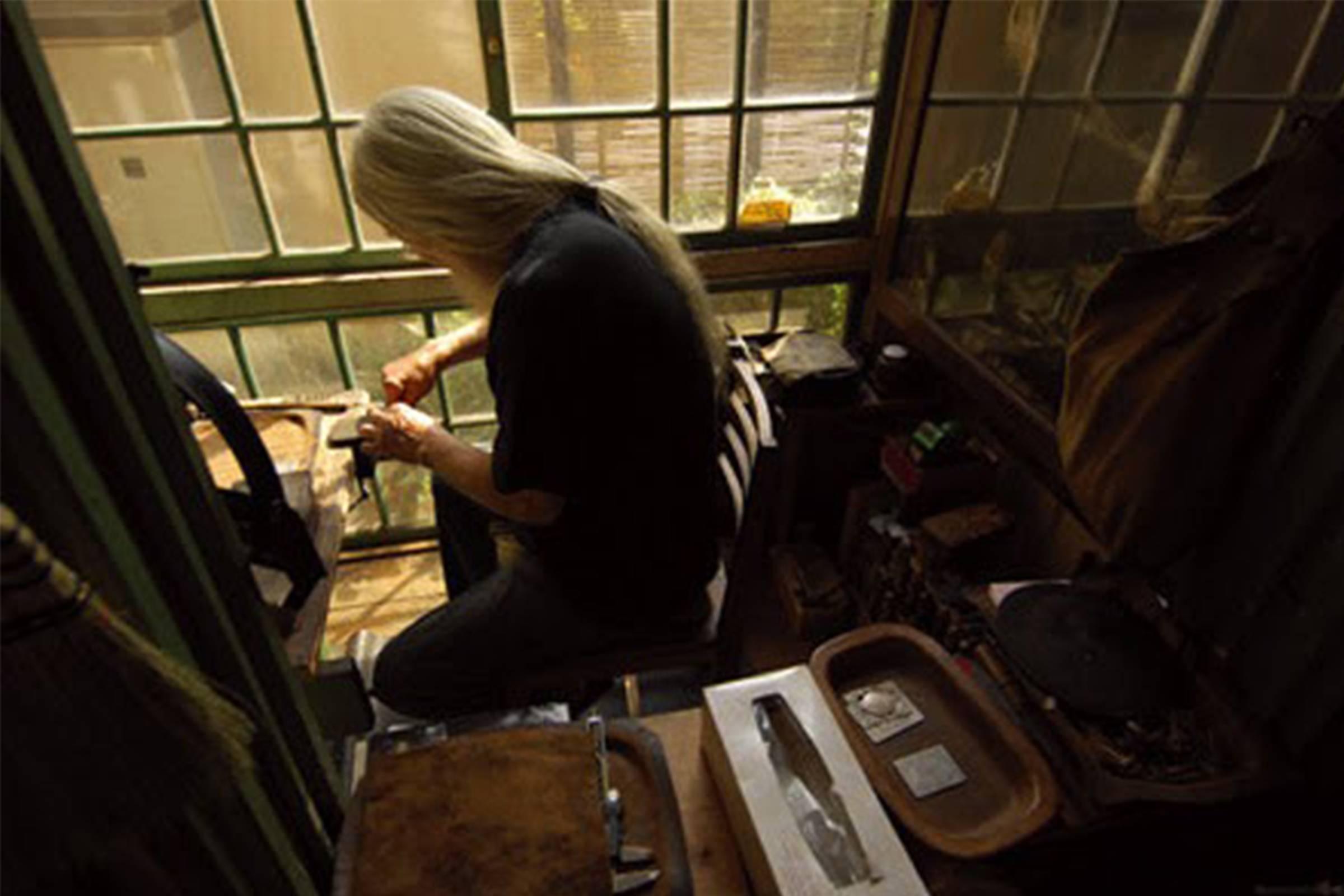 Goro in his workshop