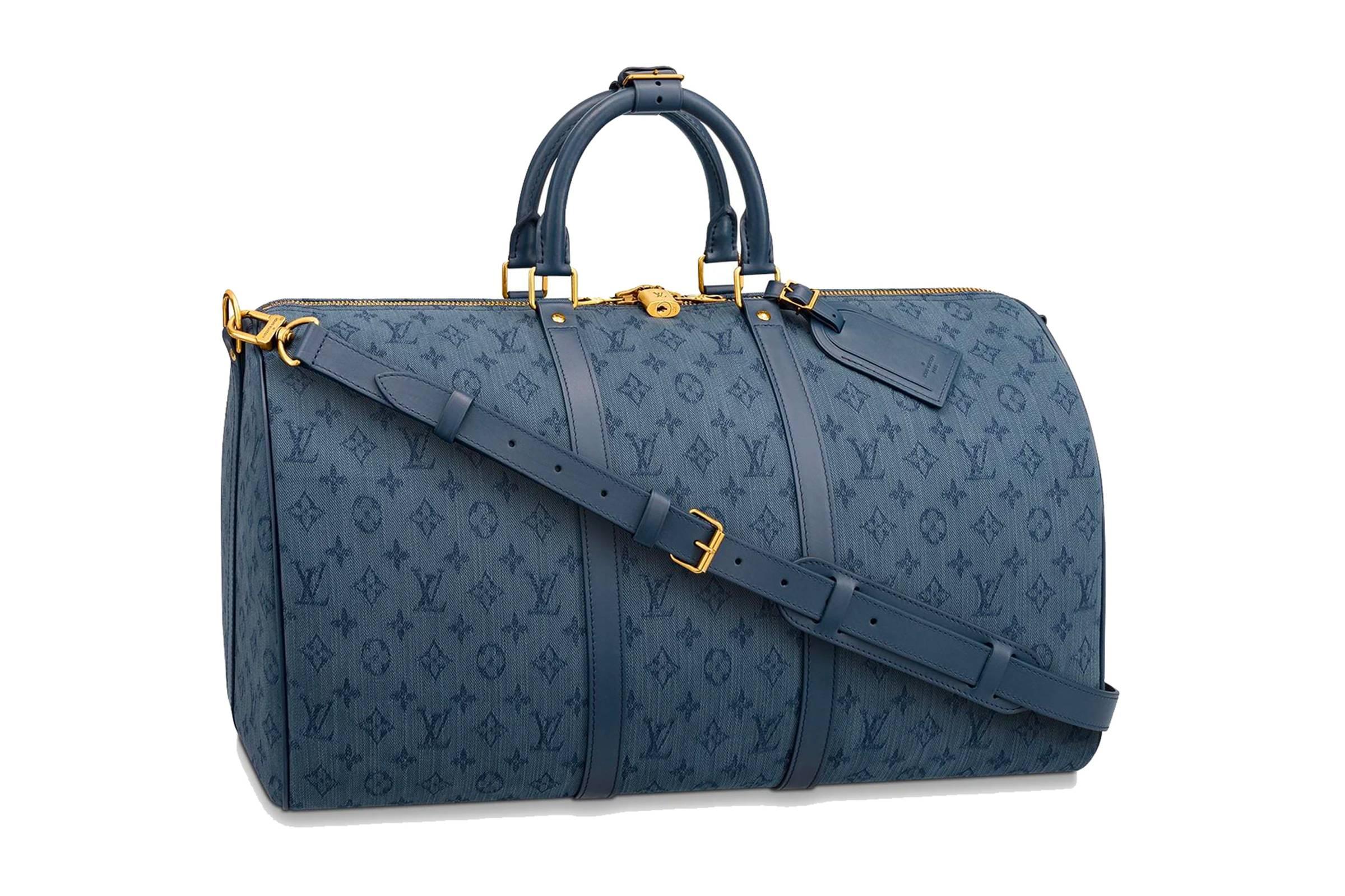 Louis Vuitton Bandoulière Keepall 50 Blue Monogram Denim