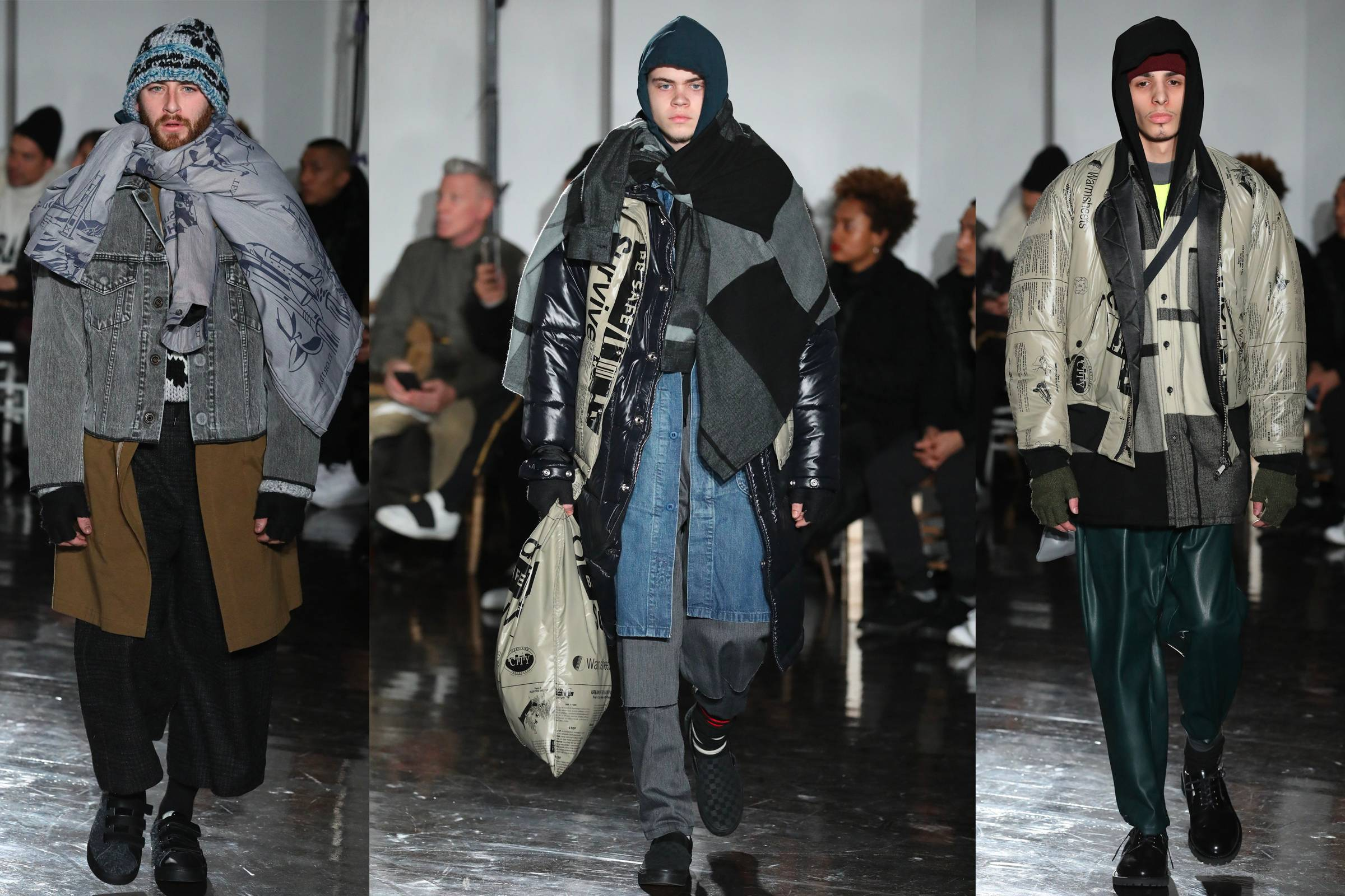 Looks from N. Hoolywood's Fall/Winter 2017 collection