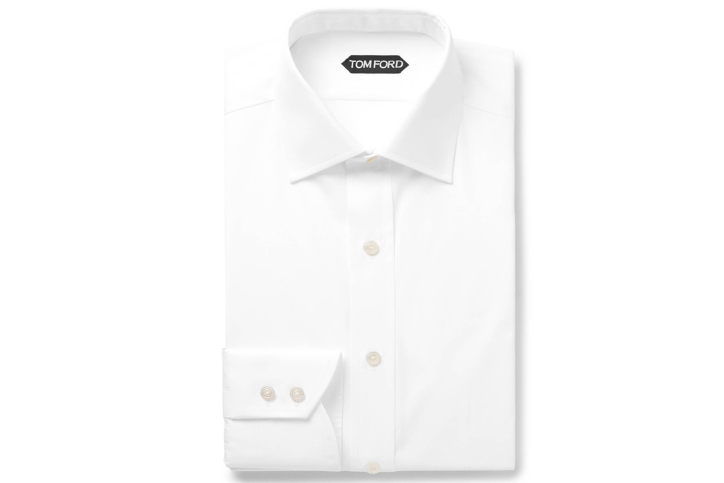 A Crispy White Dress Shirt