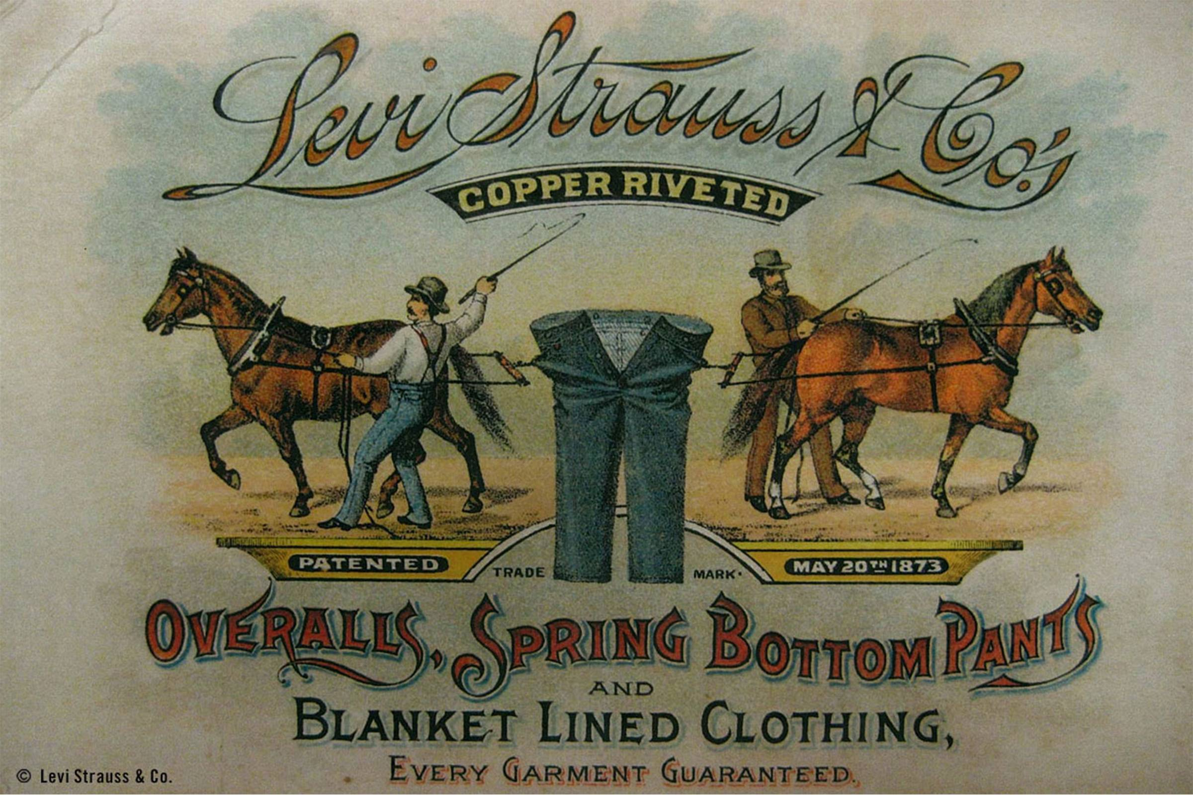 Early 1900s Levi Strauss & Co printed advertisement