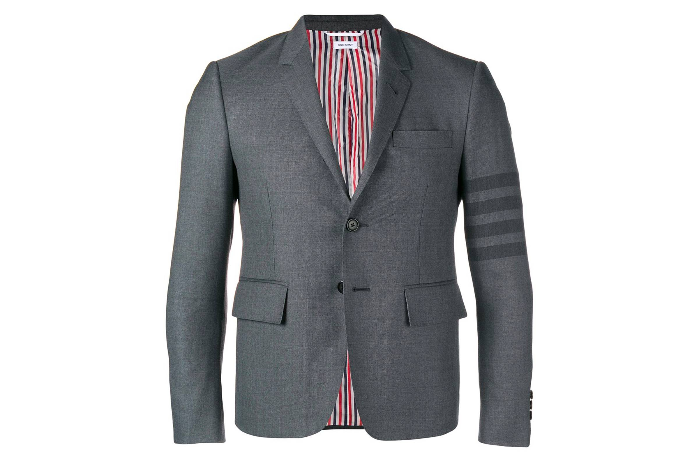 Thom Browne Classic 4-Bar Sport Coat