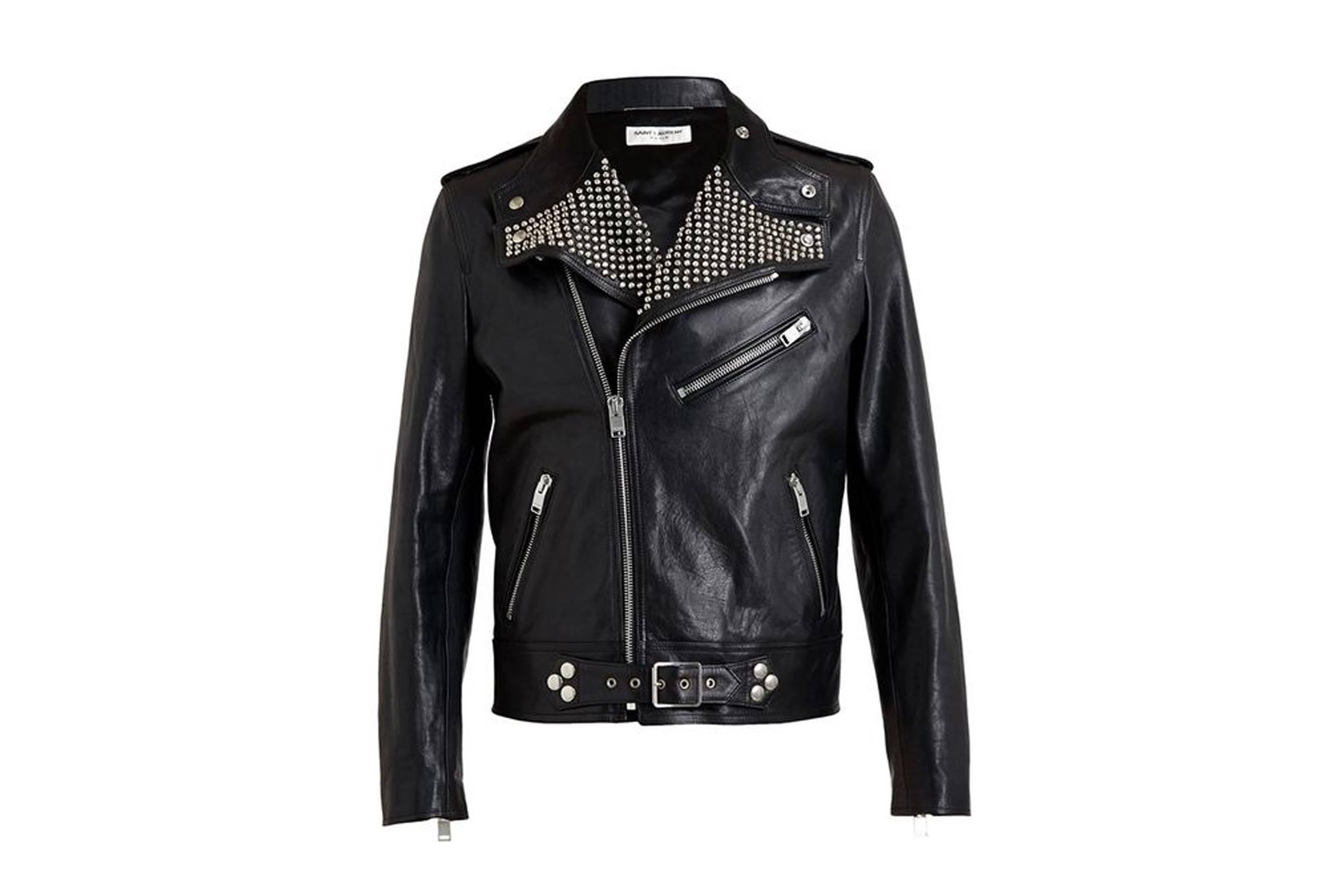 Saint Laurent Paris Studded Leather Jacket