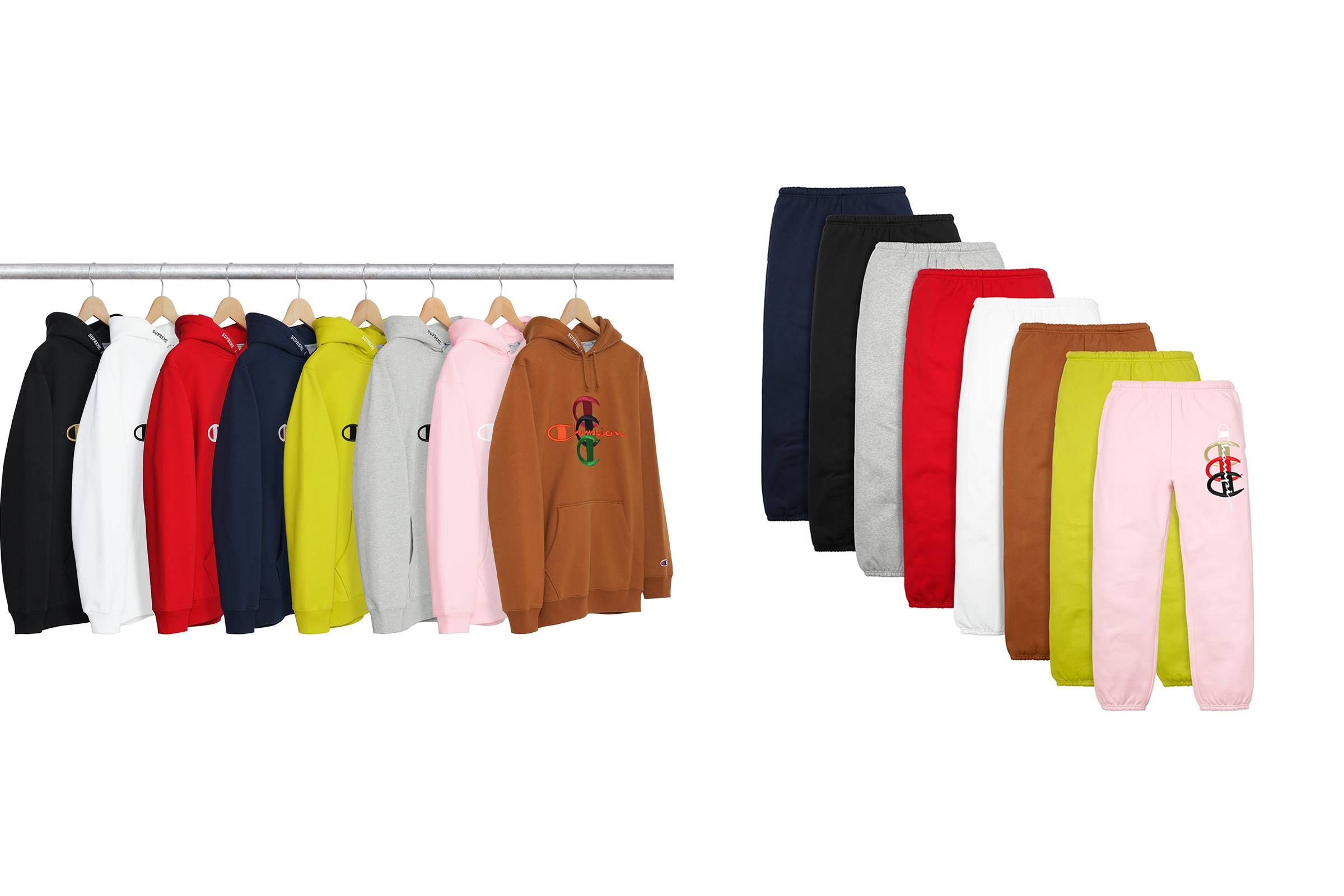 Supreme x Champion Stacked C Hoodie