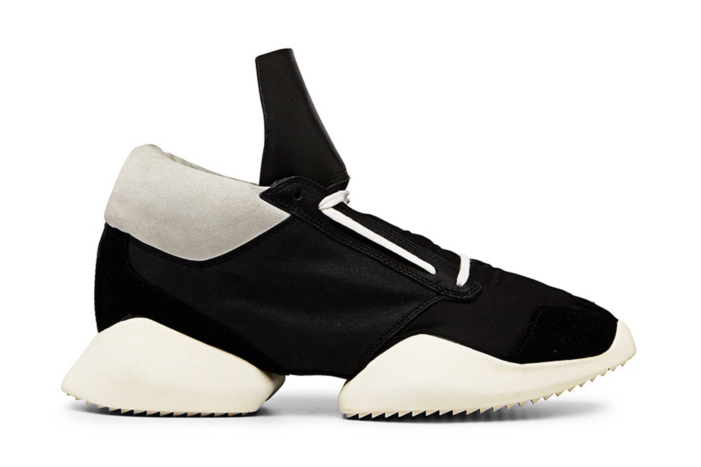 "huge discount be35d 84aaa The first Rick Owens x adidas collection was shown during the S S 2014  season, hitting the runway via the ""VICIOUS"" collection. This initial drop  featured ..."