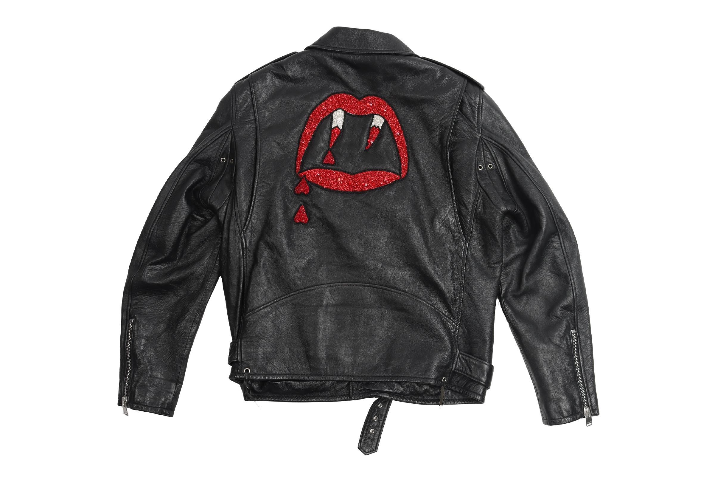 """Saint Laurent Paris Fall/Winter 2017 """"Blood Luster"""" L17 Leather Jacket"""