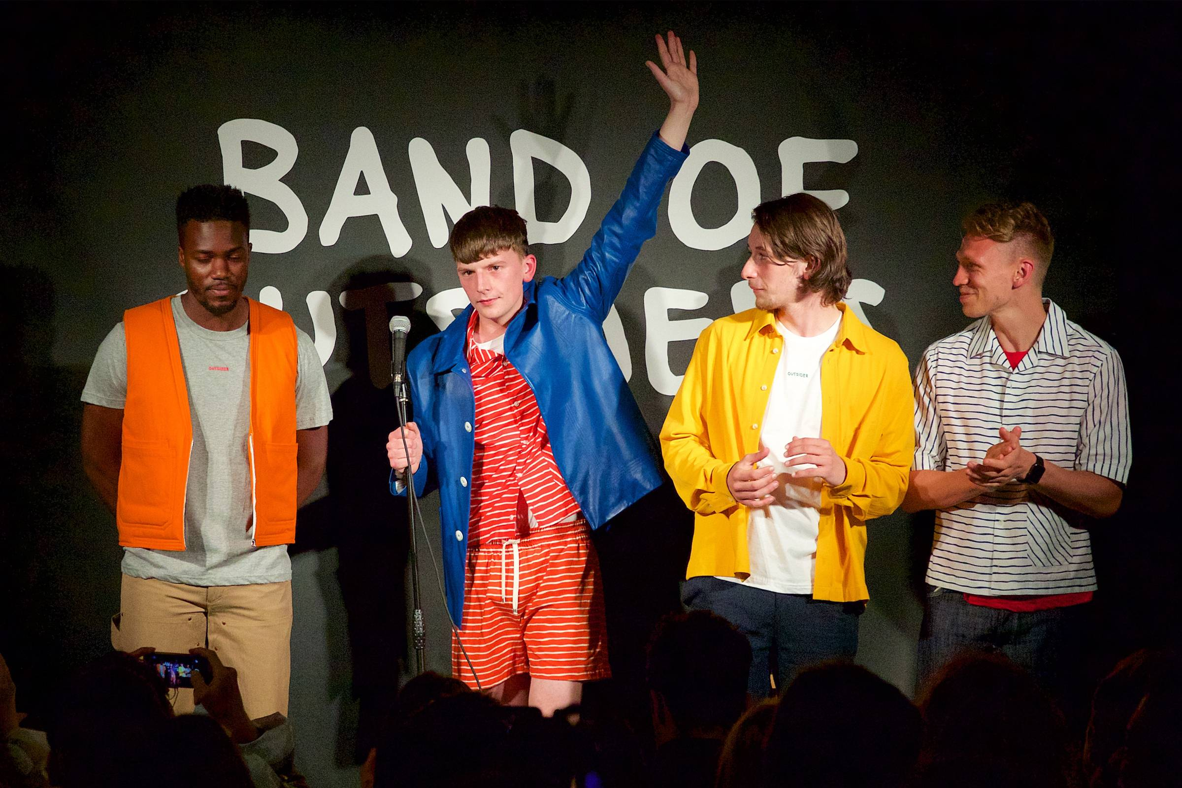 Band of Outsiders Spring/Summer 2018 collection presentation at Top Secret Comedy Club in London