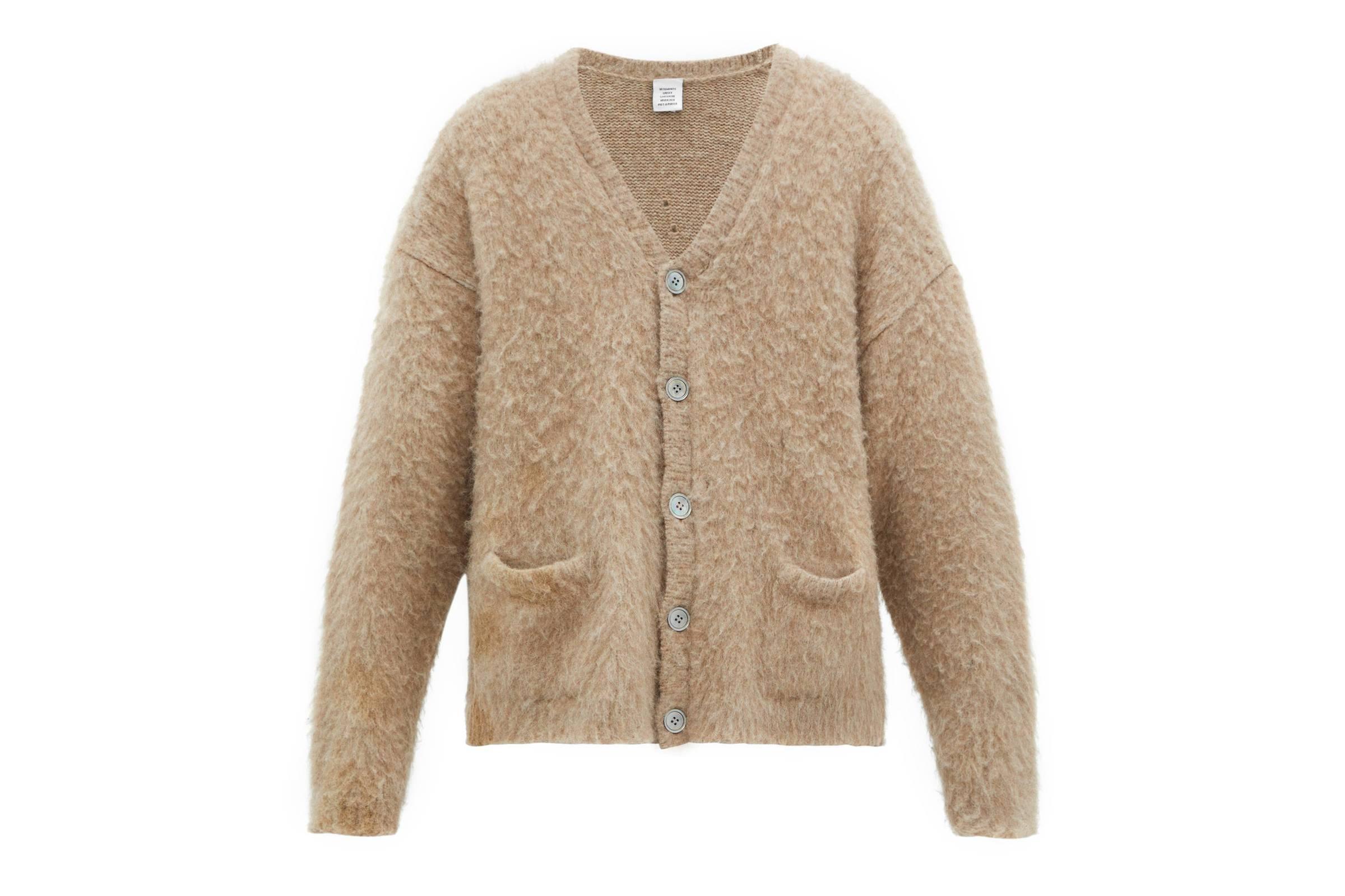 Vetements Fall/Winter 2019 Five-Button Alpaca-Blend Cardigan